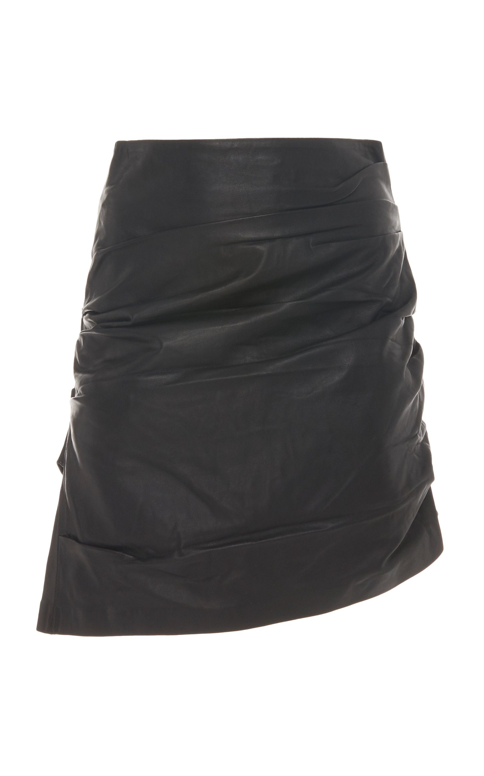 Acler Skirts Pomona Ruched Leather Skirt