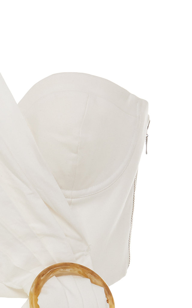 Acler Tops Glendale Cold-Shoulder Cropped Top