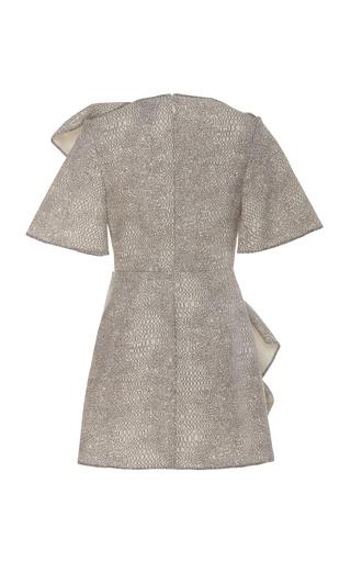 Bronte Ruffled Metallic Snake-Print Mini Dress by Acler  c13b0d461