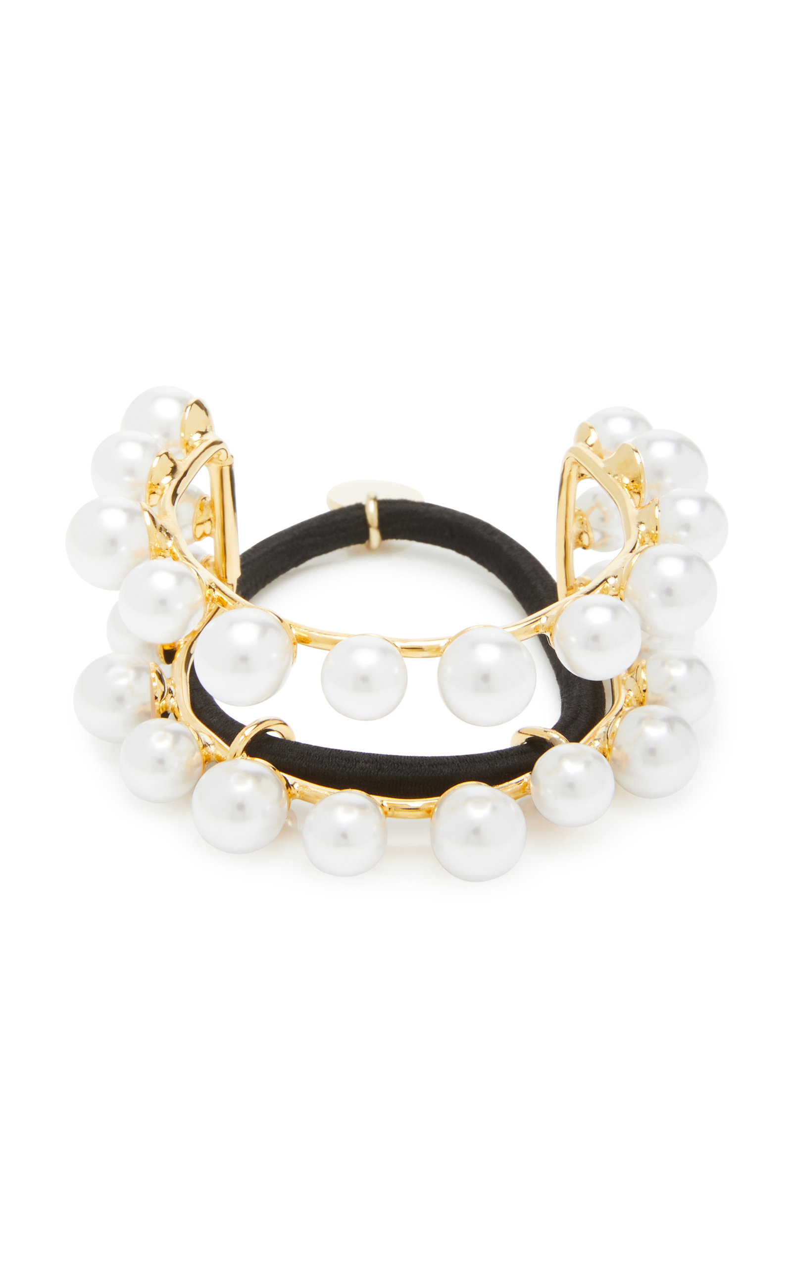 Lelet Ny GOLD-PLATED FAUX PEARL HAIR TIE