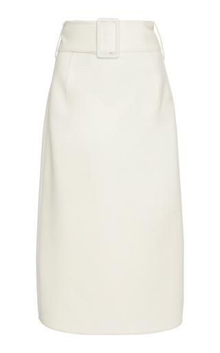 OSCAR DE LA RENTA | Oscar de la Renta High-Waisted Wool-Blend Crepe Skirt | Goxip