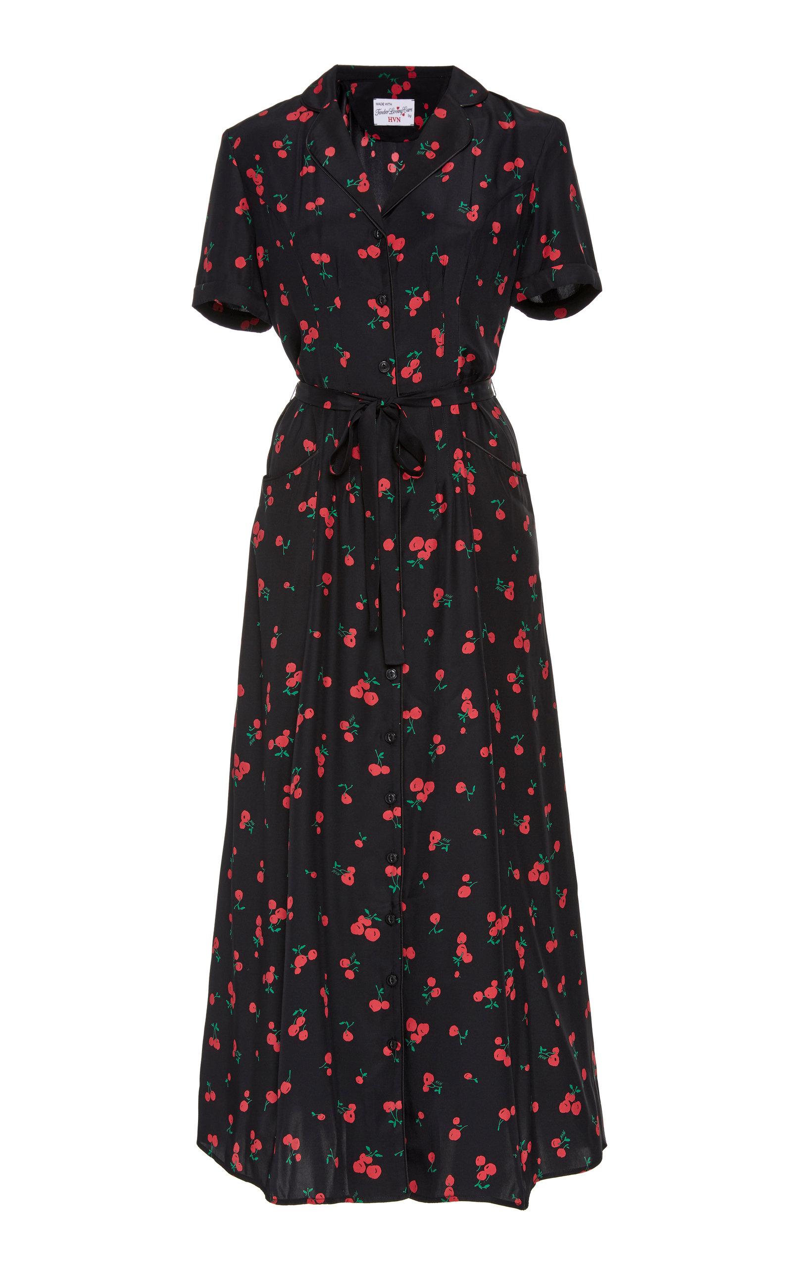maria-cherry-printed-silk-midi-dress by hvn