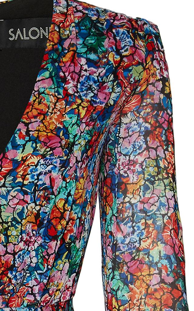37e4f68871 Devon Ruffled Floral-Print Silk Midi Dress