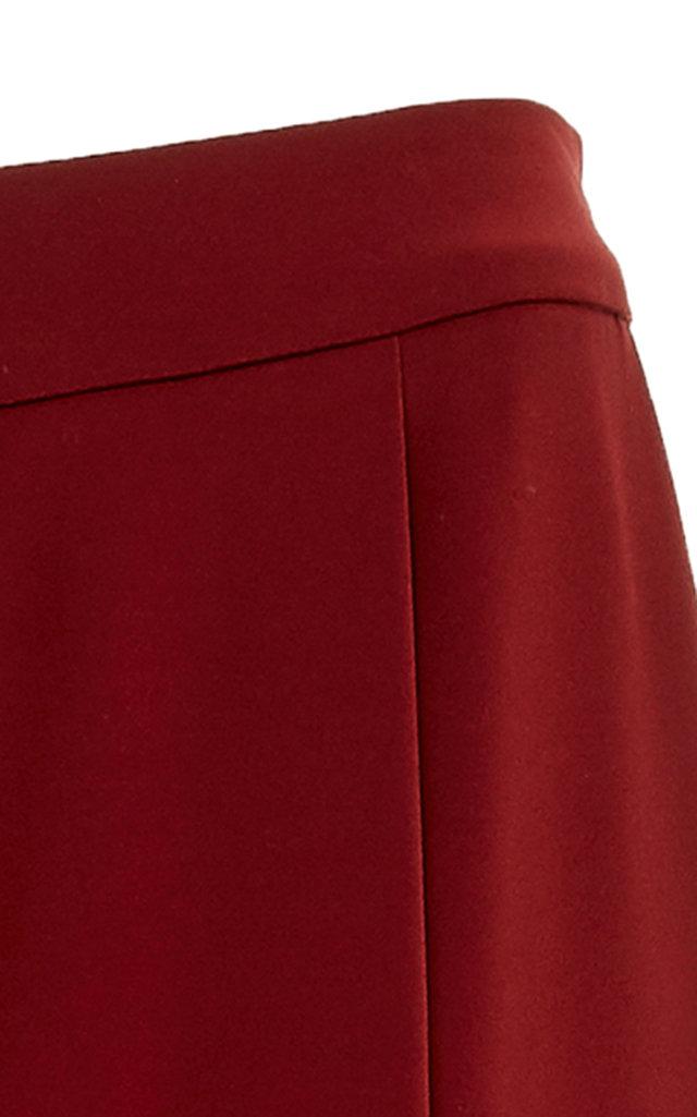 Co Pants Pleated Crepe Straight-Leg Pants