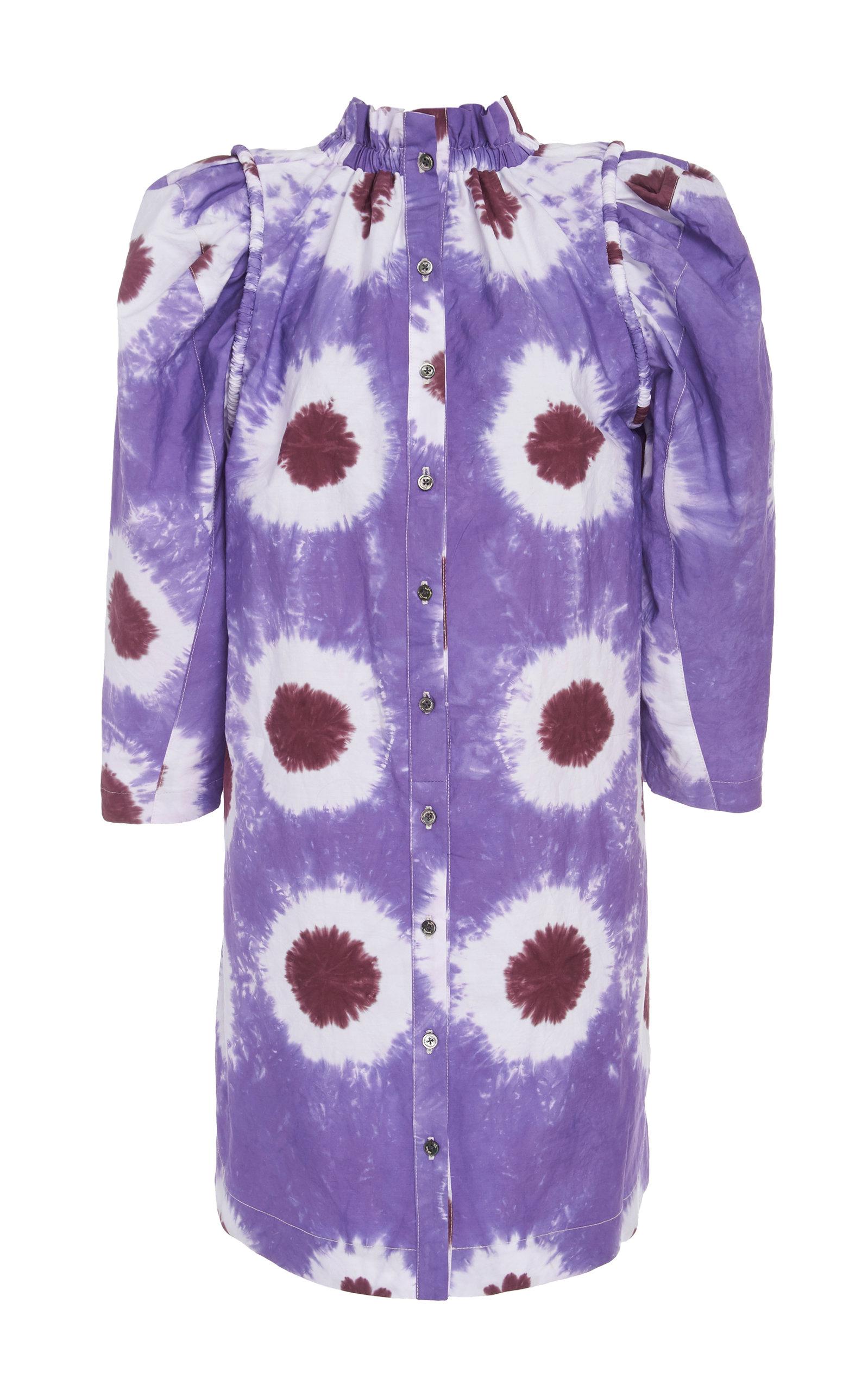 Sea Dresses Tie-Dye Cotton-Voile Mini Dress