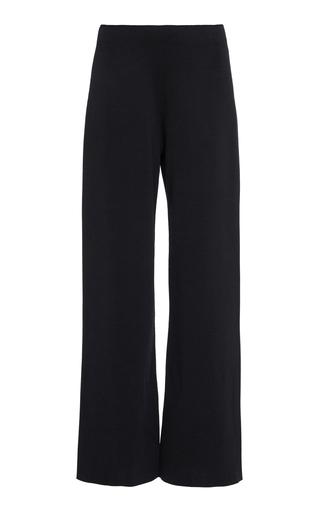 Mansur Gavriel Milano Knit Stretch Wool Trousers In Black