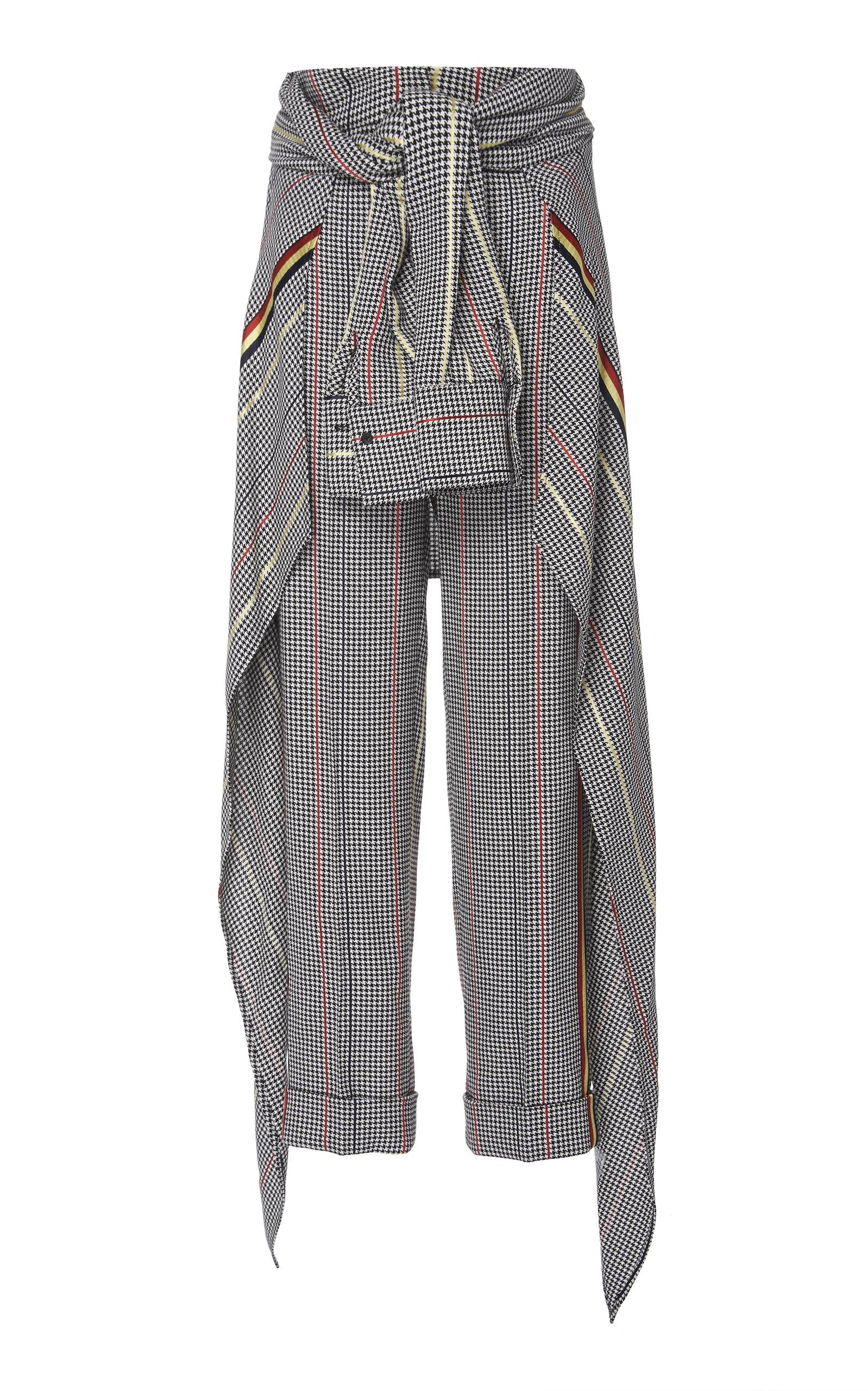 Hellessy Pants AVEDON WAIST-TIE STRAIGHT-LEG CREPE PANT