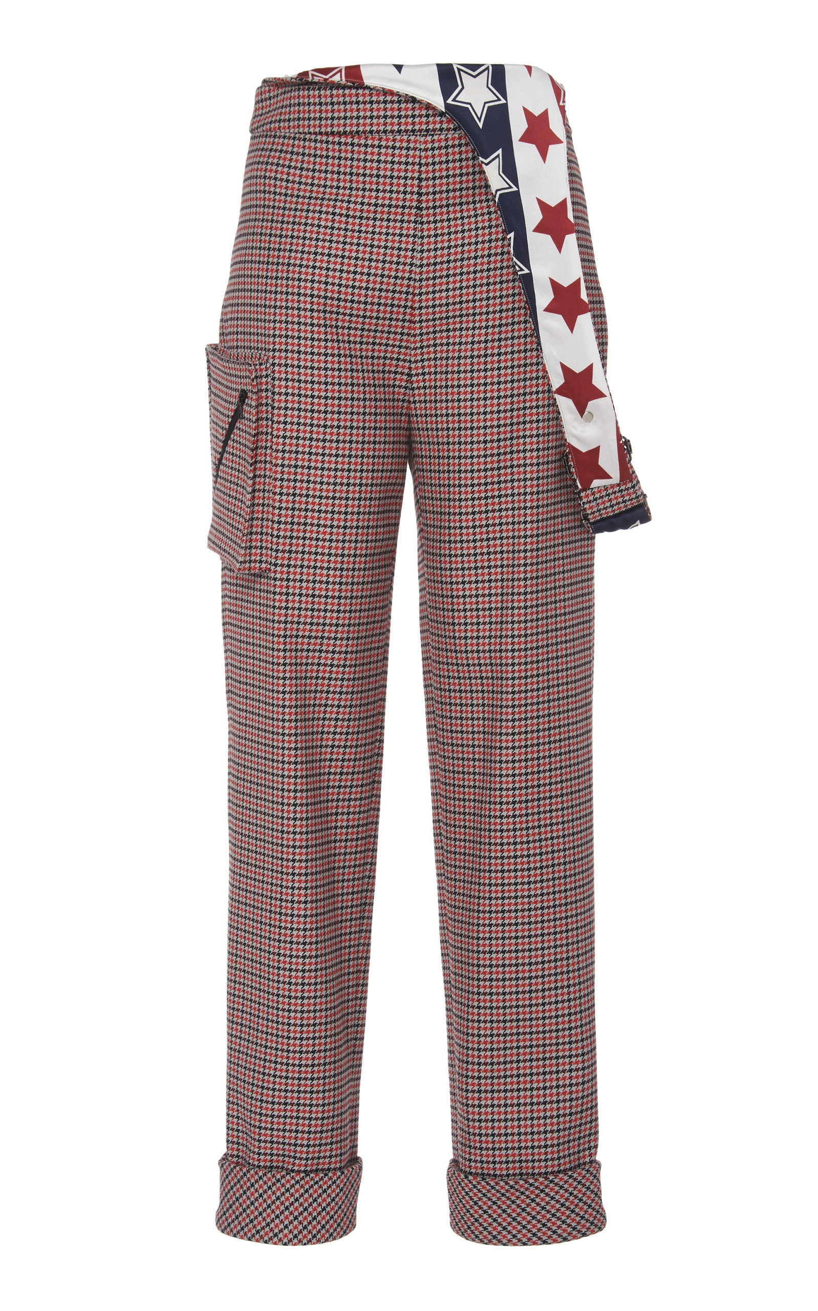 Hellessy Pants DELREY PRINTED WOOL PANTS