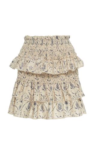 52c898eba2 Sir The LabelSachi Smocked Linen Mini Skirt
