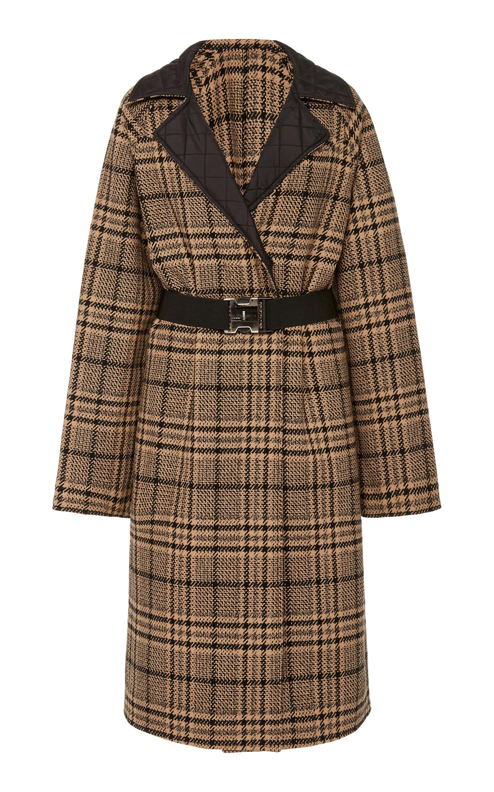 Ganni Coats Reversible Belted Wool-Blend Coat