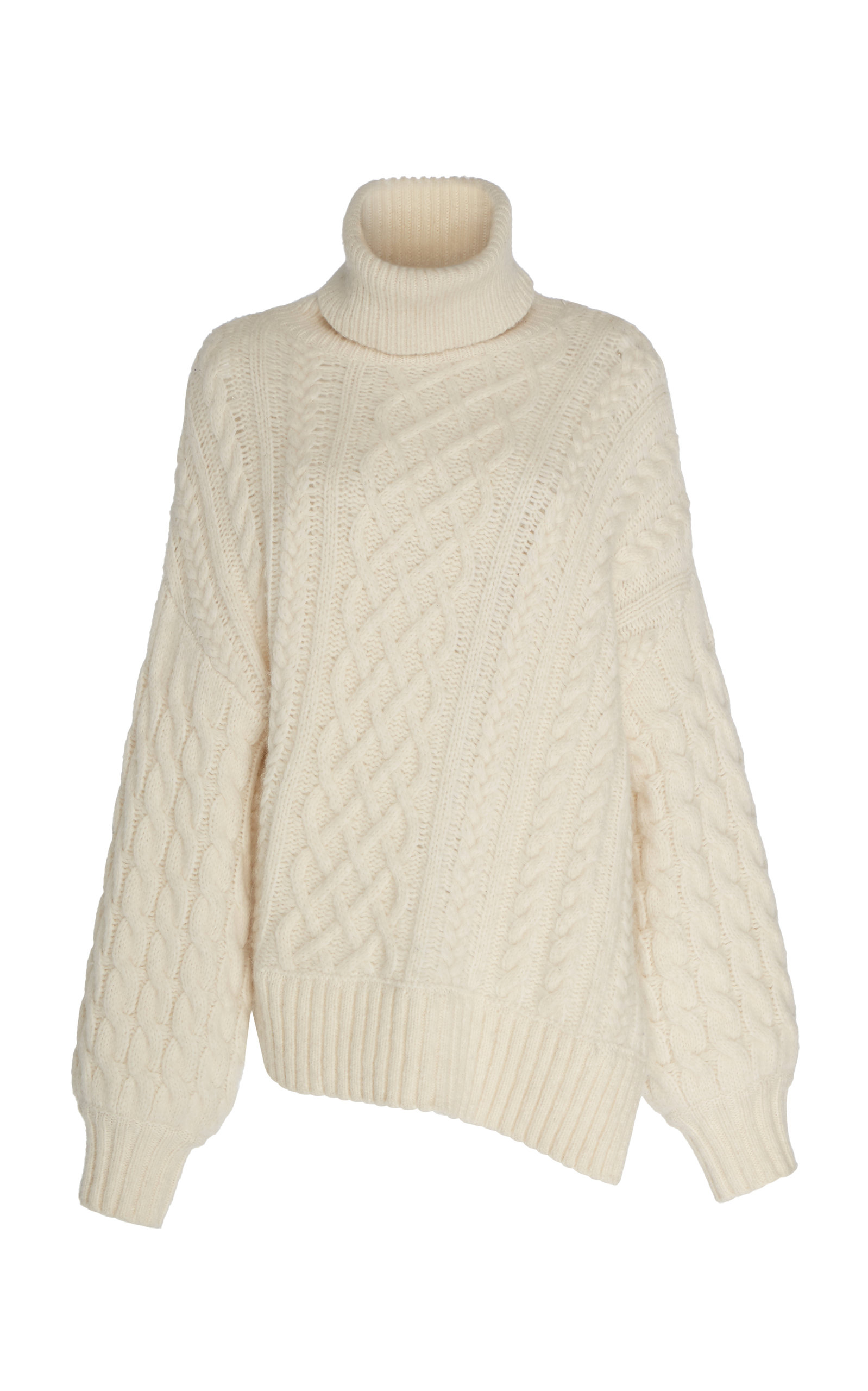 A.l.c Knits NEVELSON CABLE-KNIT WOOL TURTLENECK SWEATER