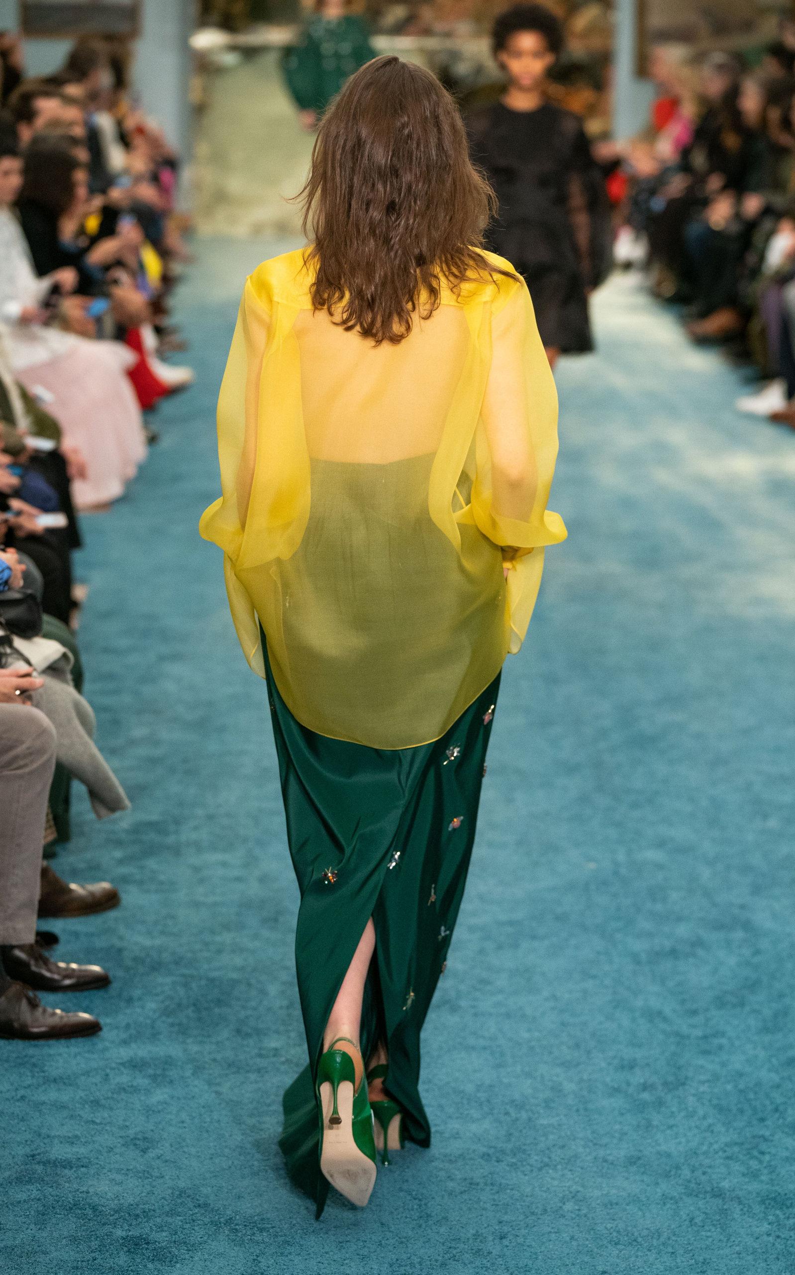 e2a19aac53 Carolina HerreraPleated Embellished Silk Maxi Skirt. CLOSE. Loading.  Loading. Loading