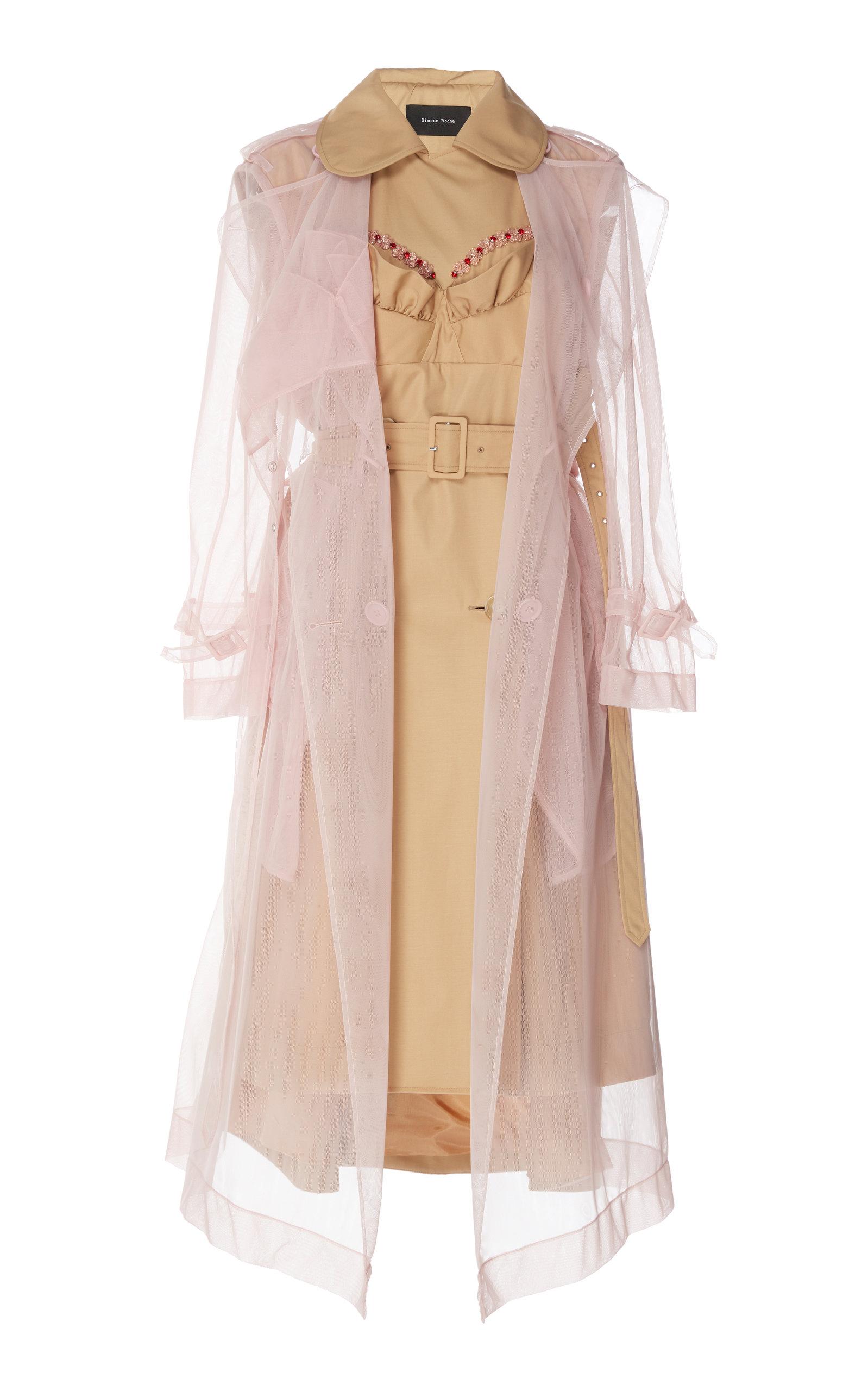 Moda Simone Operandi Tulle Rocha By Belted Coat Trench wS0nIHq0fY