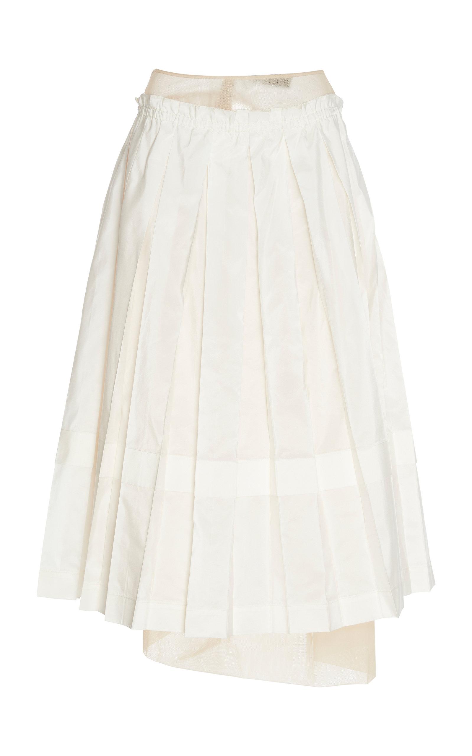 6e3c4ef59 Asymmetric Pleated Twill And Taffeta Skirt by Simone Rocha   Moda ...