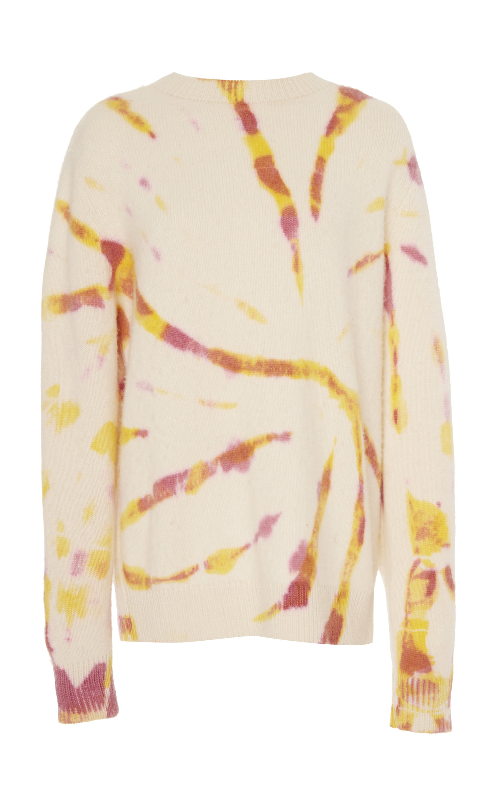 The Elder Statesman Sweaters BURNOUT TIE-DYED CASHMERE SWEATER