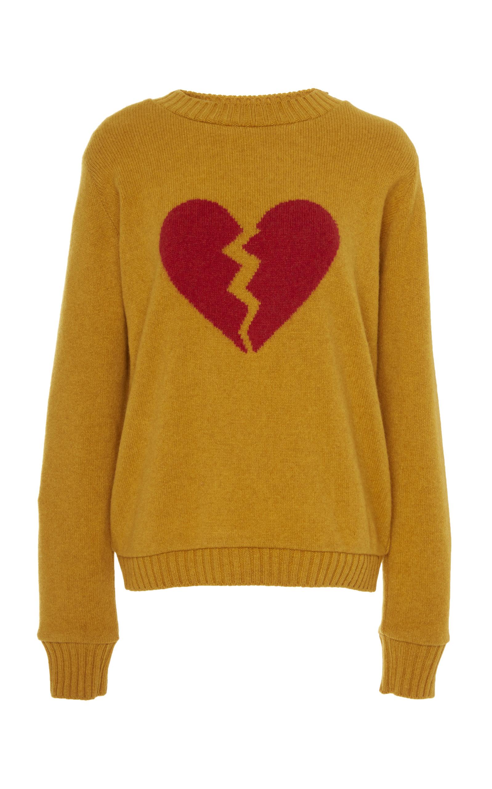 The Elder Statesman Sweaters INTARSIA HEART CASHMERE SWEATER