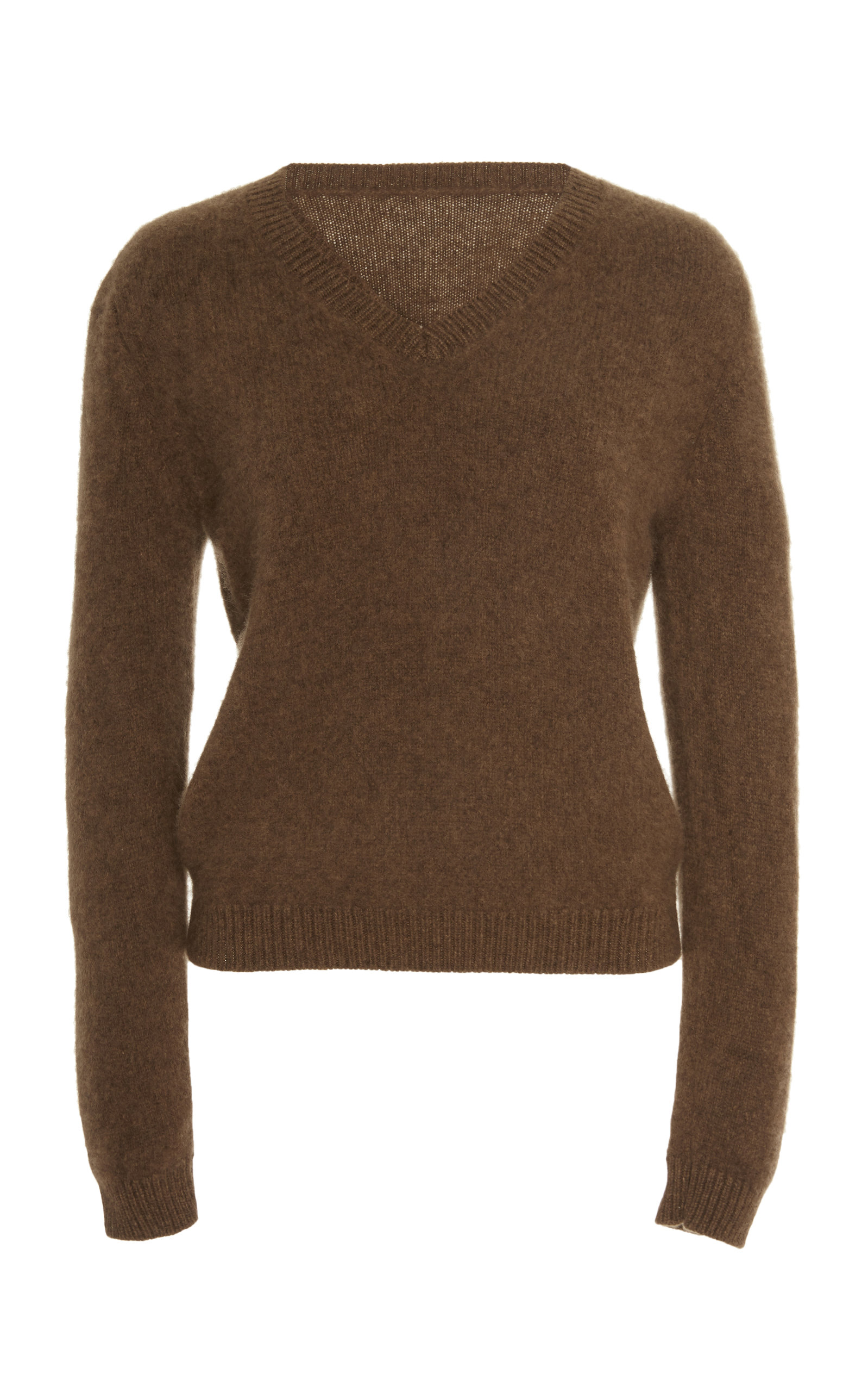 The Elder Statesman Sweaters CROPPED V NECK CASHMERE SWEATER