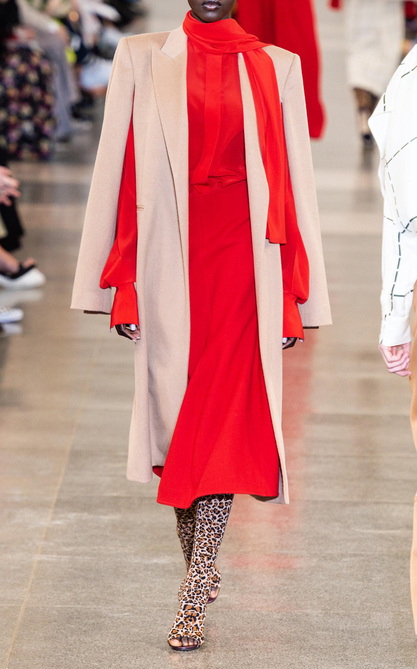 Victoria Beckham Tops Tie-Neck Silk-Crepe Blouse
