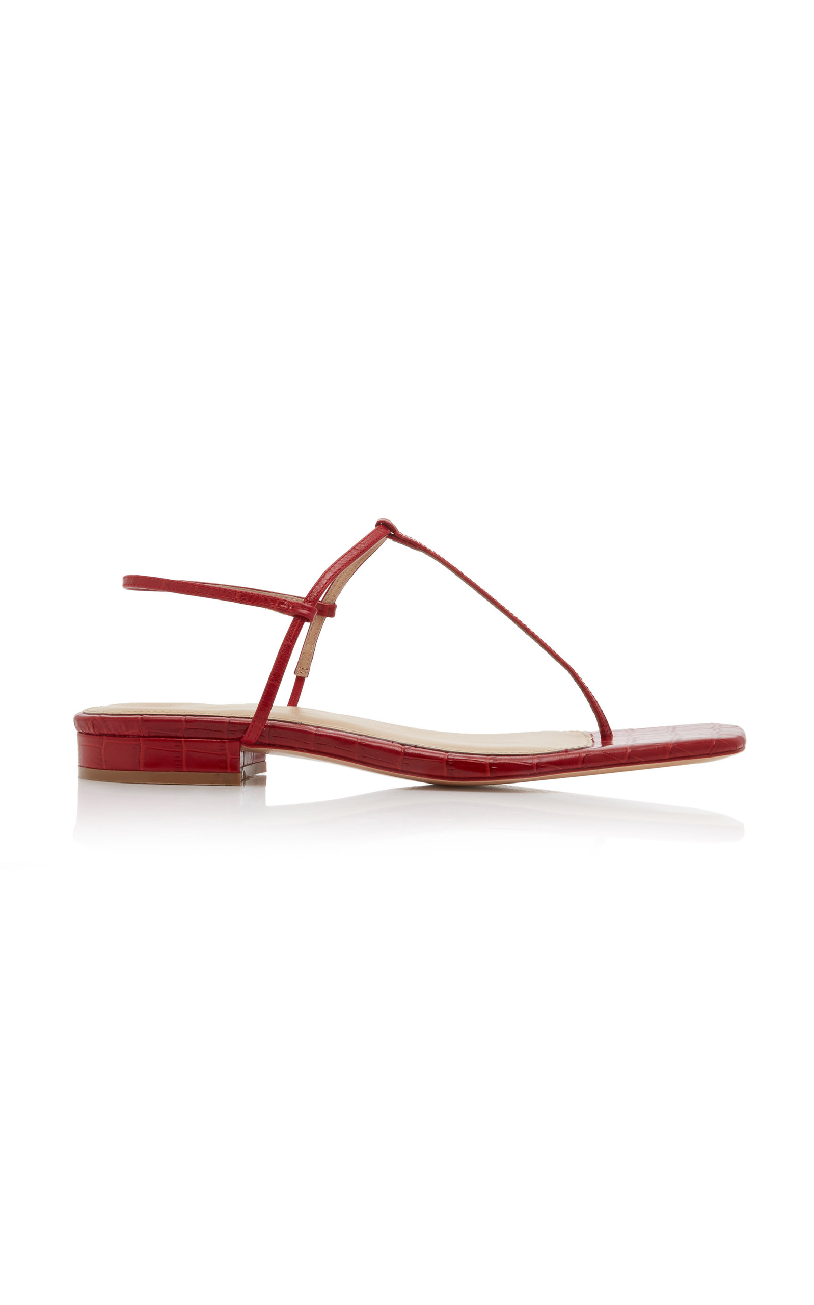 1.4 Croc Effect Leather Sandals by Studio Amelia