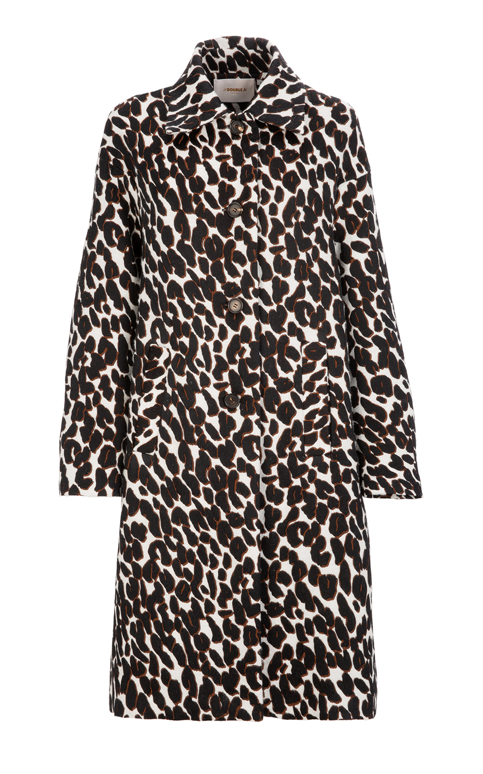 La Doublej Coats OVERSIZED BOXY ANIMAL PRINTED COCOON COAT