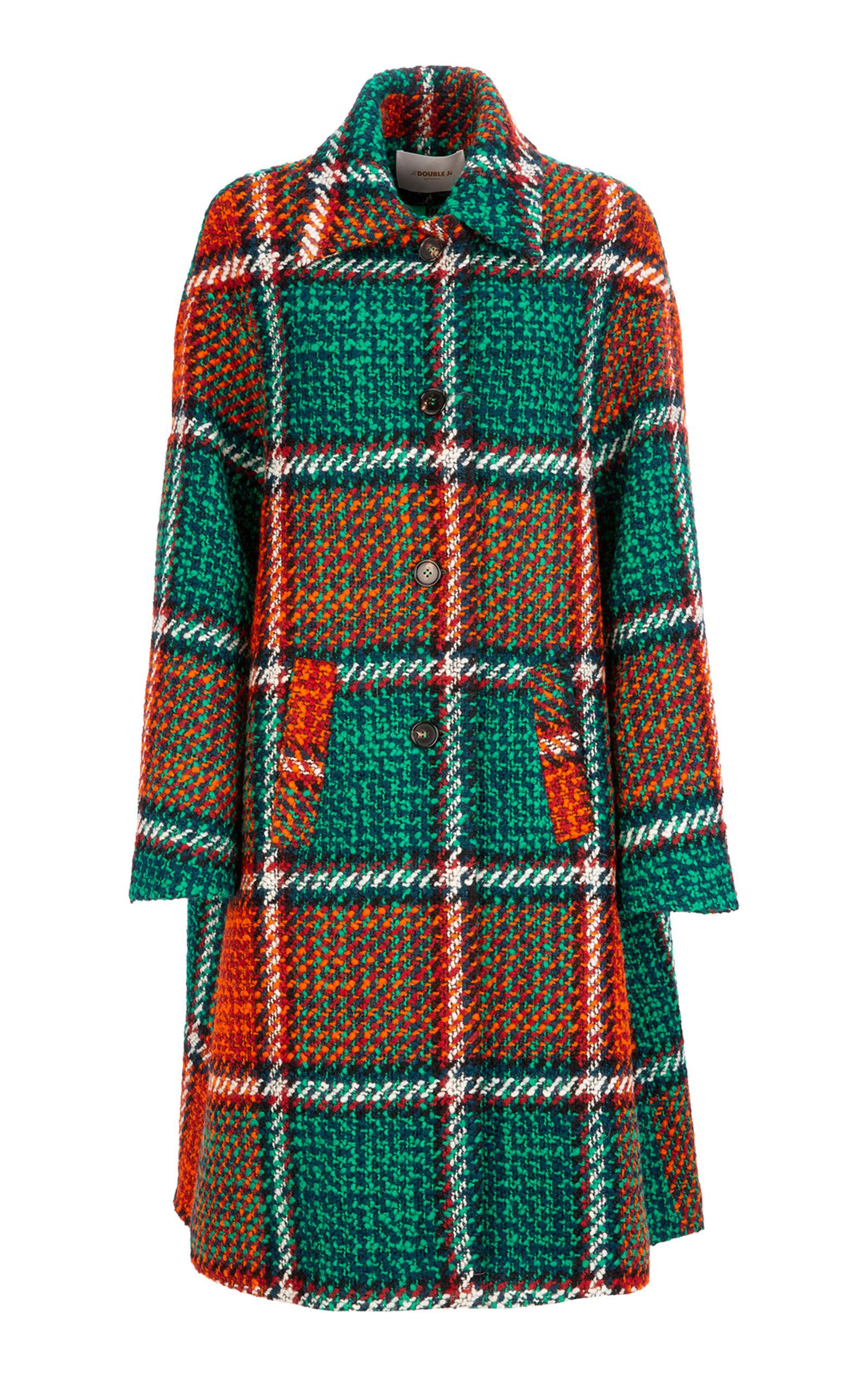 La Doublej Coats OVERSIZED BOXY COCOON CHECKERED COAT