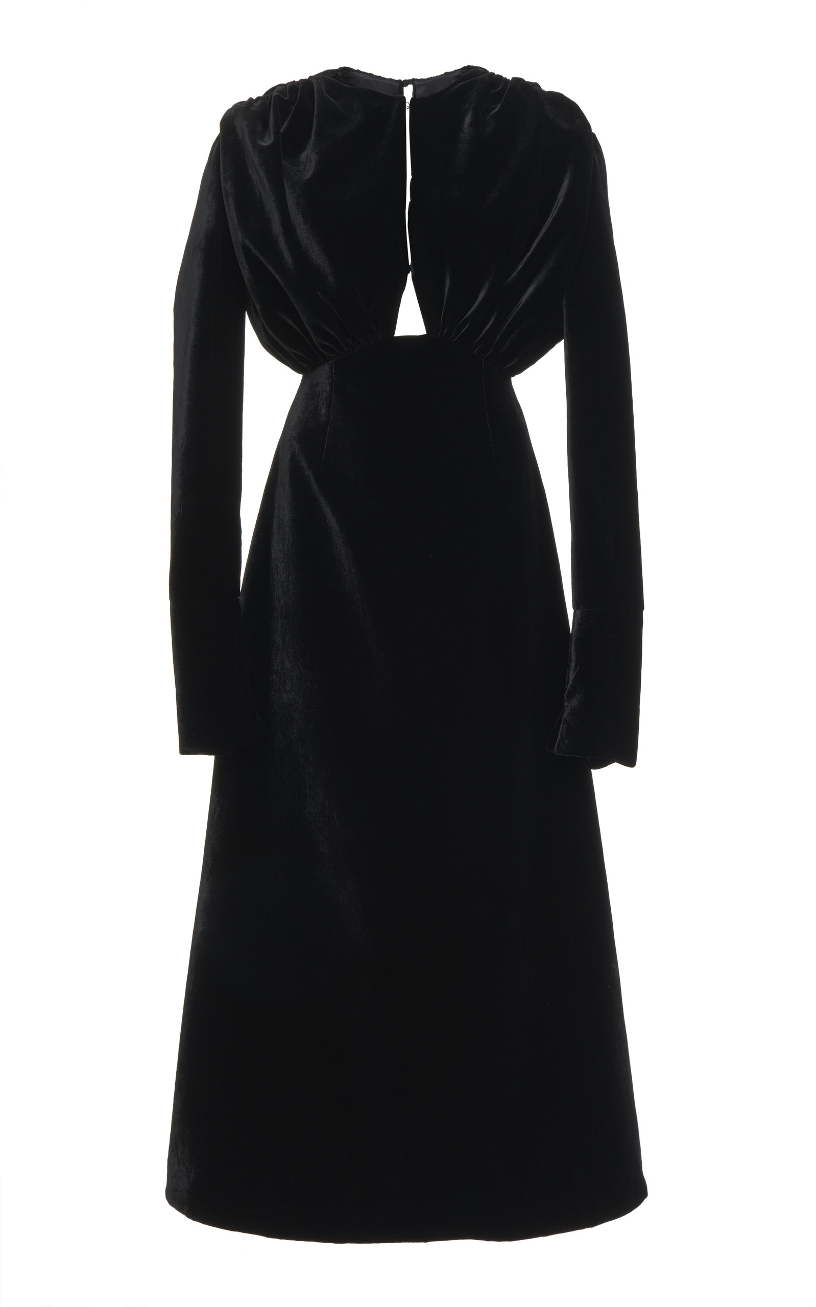 Emilia Wickstead Angelica Cutout Cotton-Velvet Maxi Dress