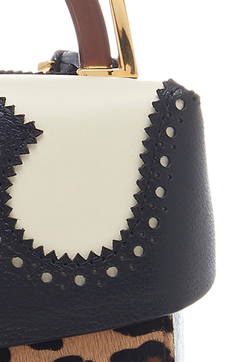 Alice Lunch Box Leopard Print Calf Hair And Leather Shoulder