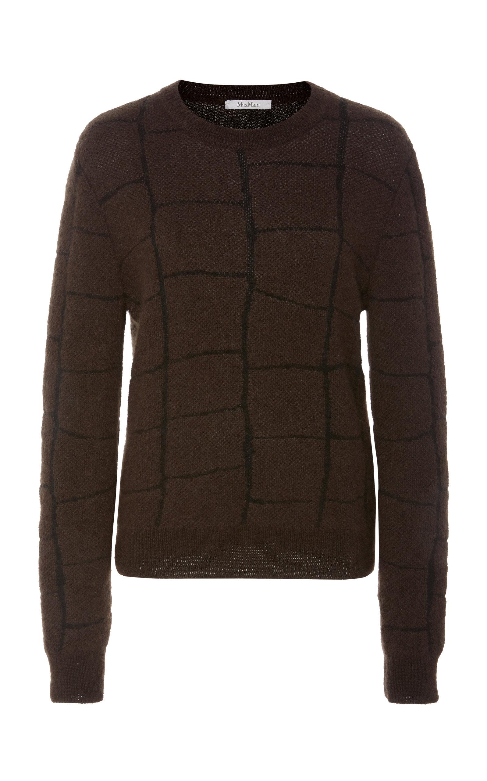 Max Mara Knits Magenta Intarsia-Knit Sweater