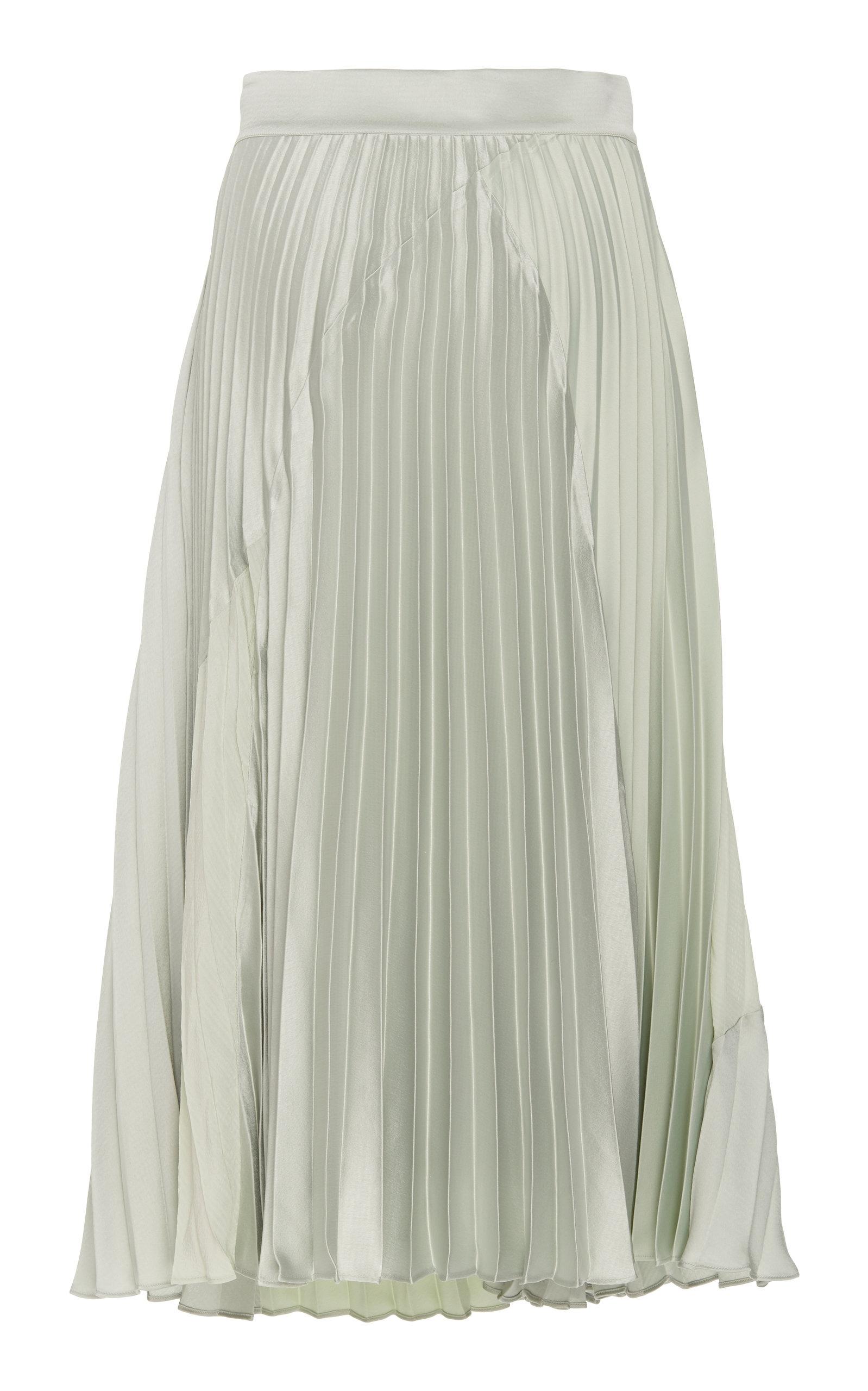 9b54686a6 Pleated Chiffon And Satin Midi Skirt by Vince | Moda Operandi