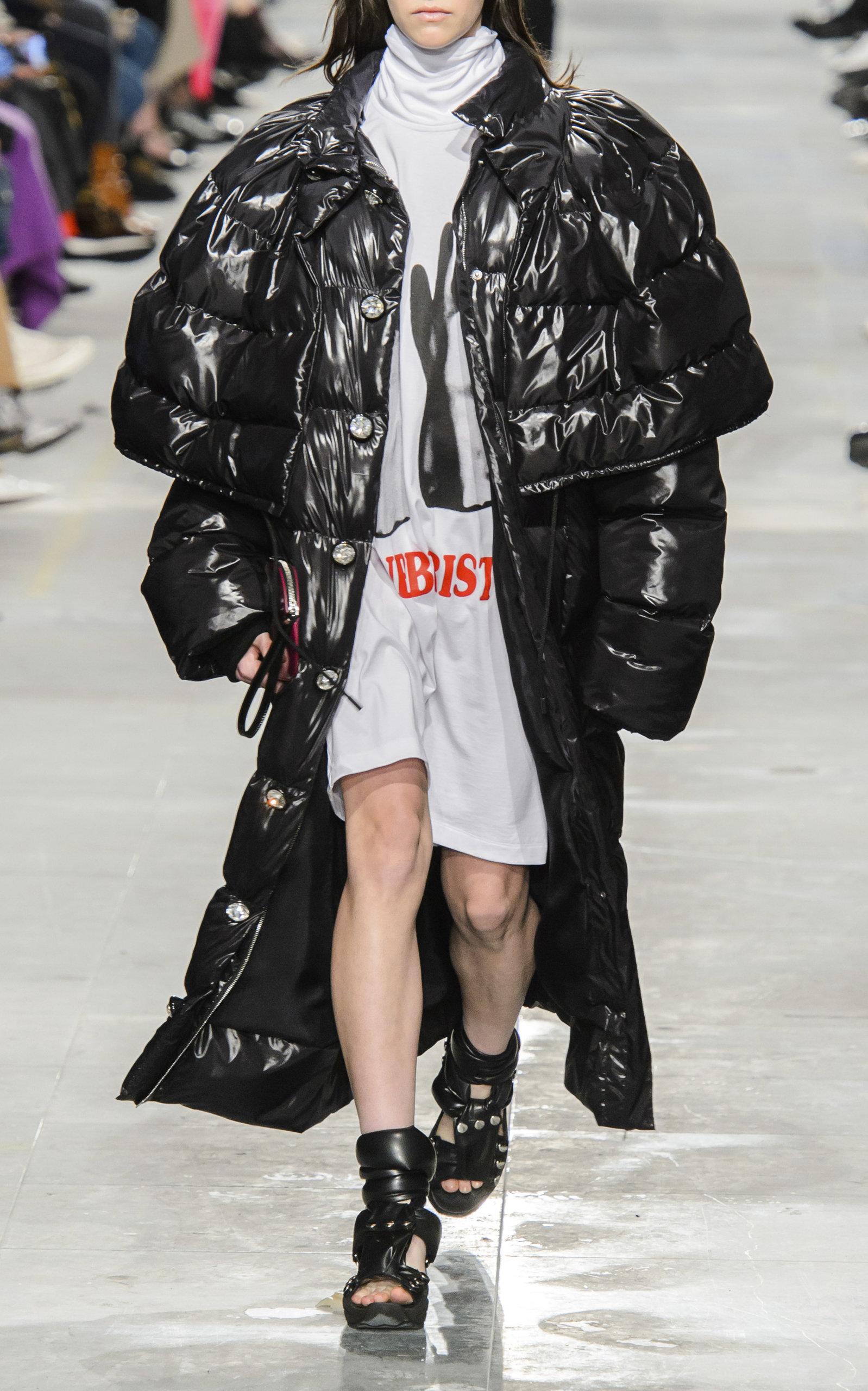 Christopher Kane Coats Cupcake Metallic Oversize Puffer Coat