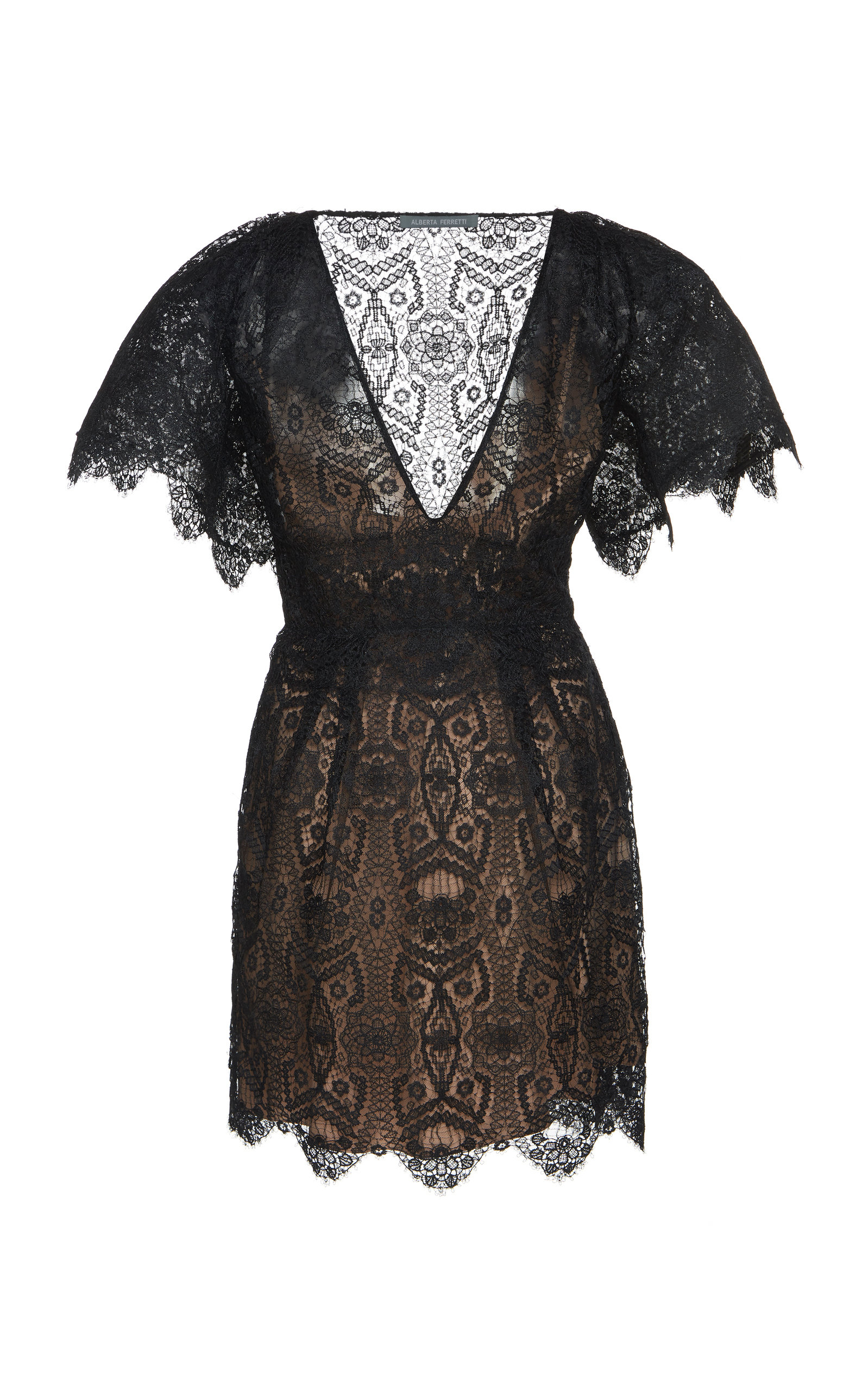 Alberta Ferretti Dresses Reversible Lace Mini Dress