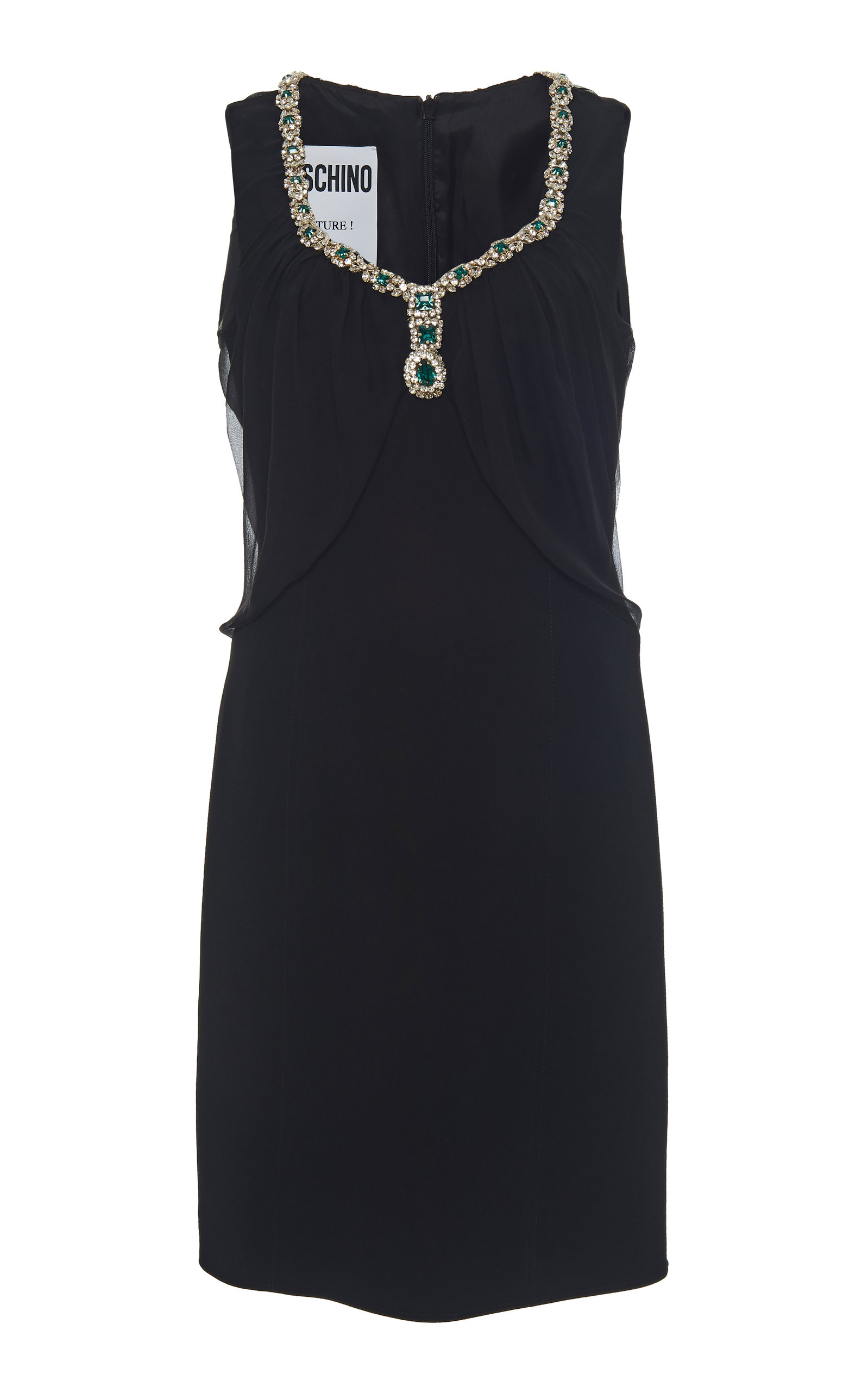 7d8dc008419 Jewel-Embellished Sheath Dress by Moschino