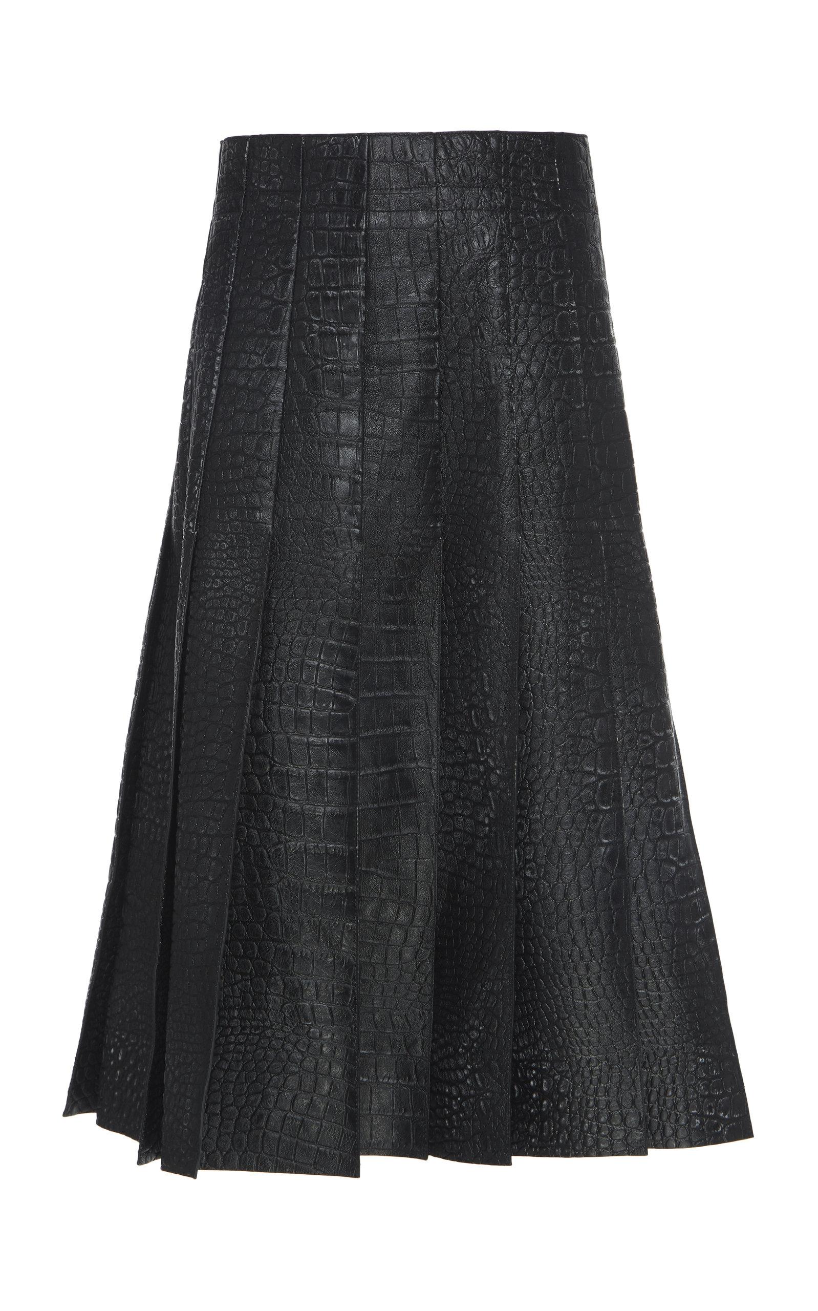 aaab46ff1e Pleated Embossed Leather Skirt by Marni | Moda Operandi