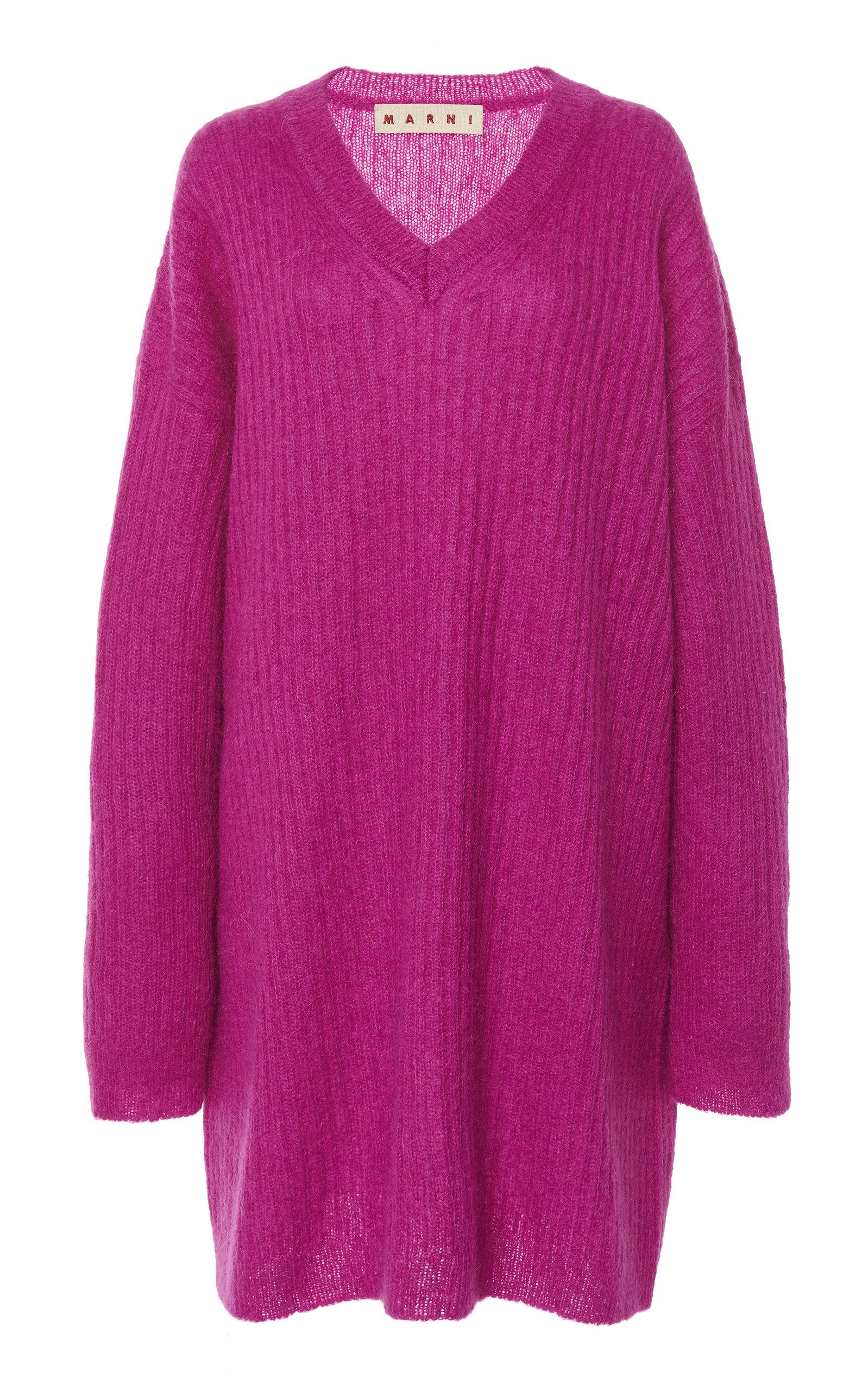 55a95944bd6554 Oversized Ribbed-Knit Mohair-Blend Sweater by Marni   Moda Operandi