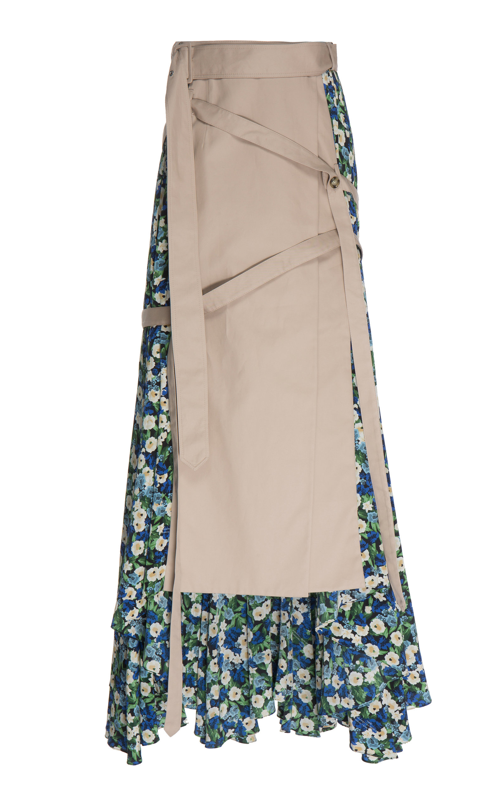 11123e9f3 Pleated Wrap-Effect Floral-Print Skirt by Rokh | Moda Operandi
