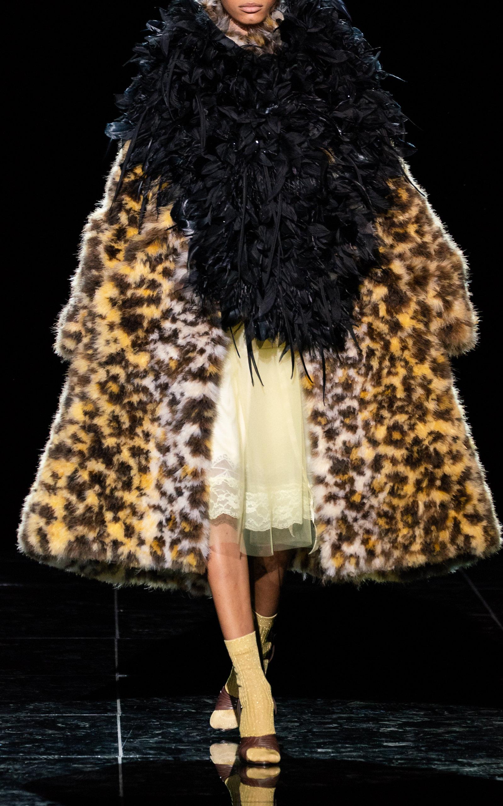 a3977a0a1da8 Leopard-Print Faux Fur Silk Coat by Marc Jacobs | Moda Operandi