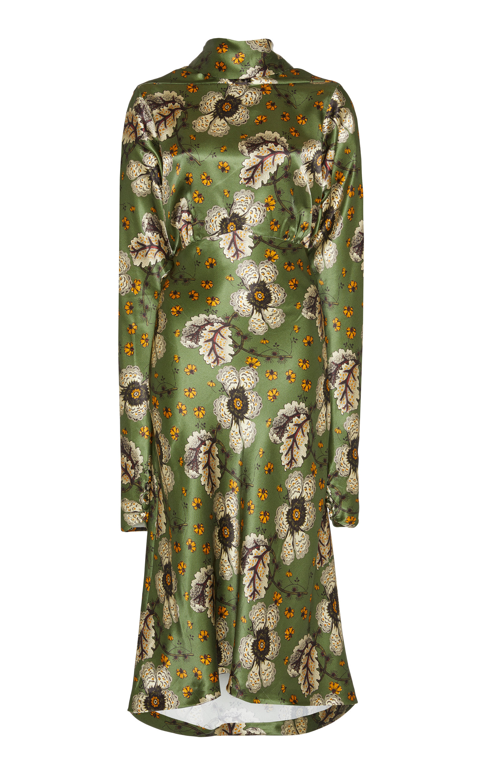 4e9b4fc286f1b EtroFloral-Print Satin Midi Dress. CLOSE. Loading