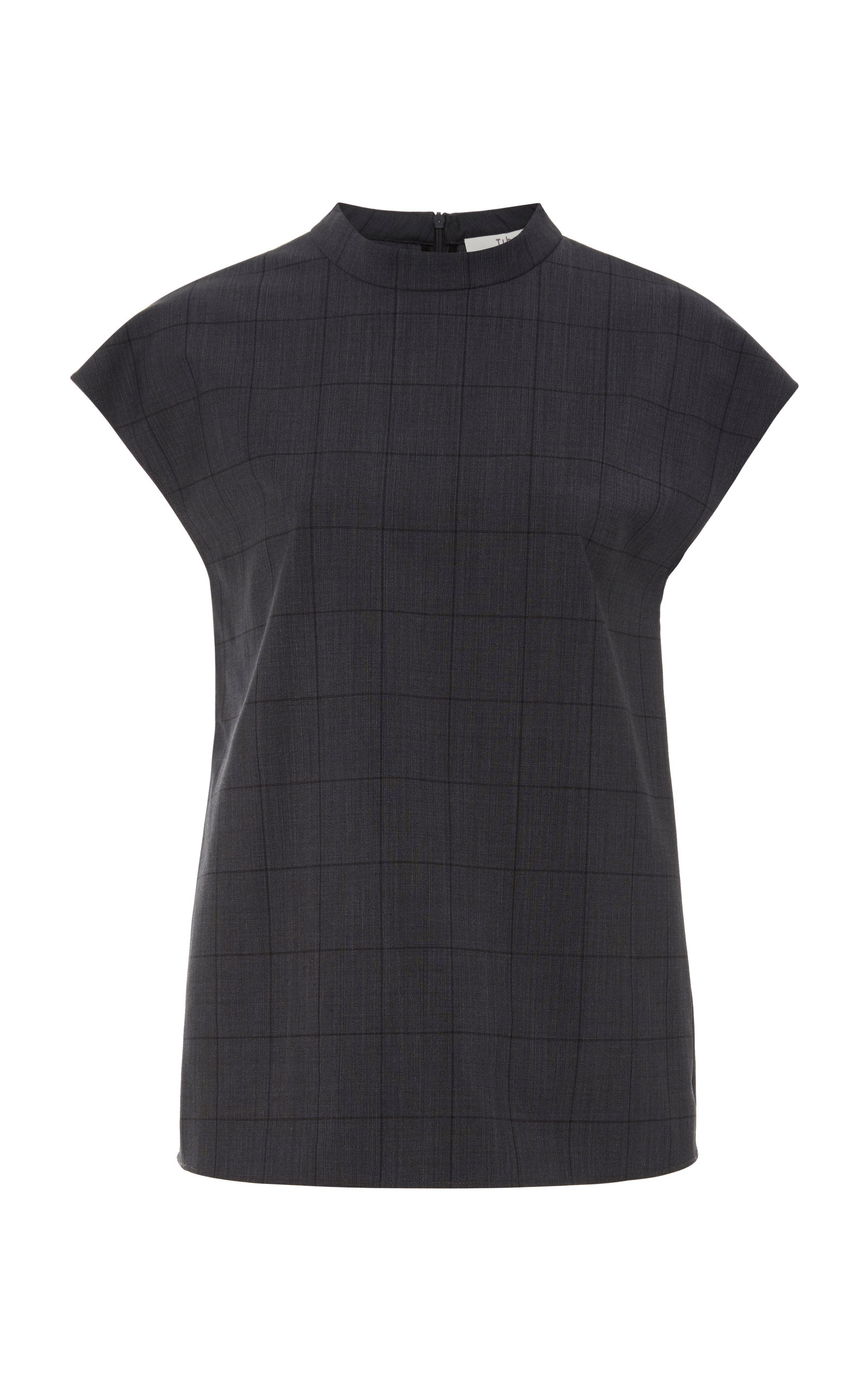 Tibi Tops CHECKED WOVEN TOP SIZE: L