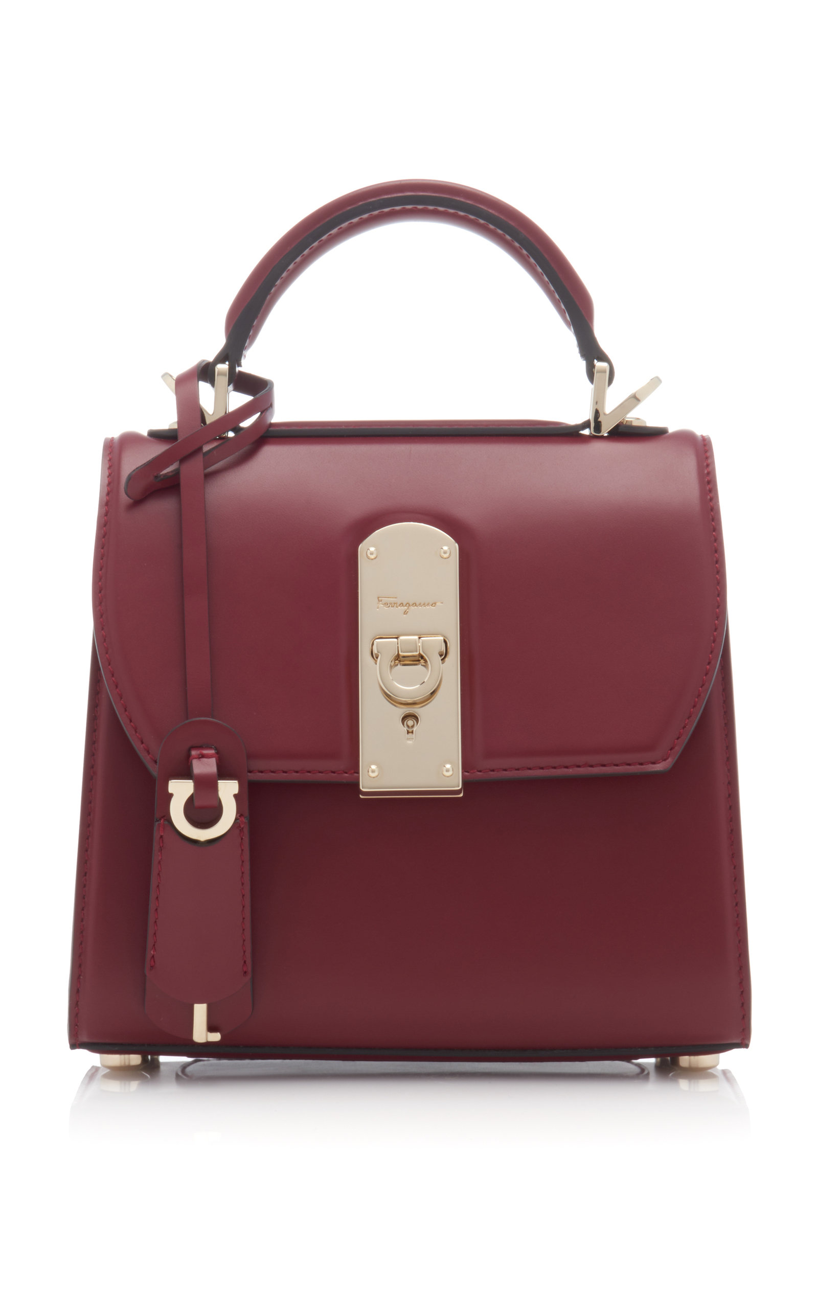 34541645bf3670 Boxyz Small Leather Top Handle Bag by Salvatore Ferragamo