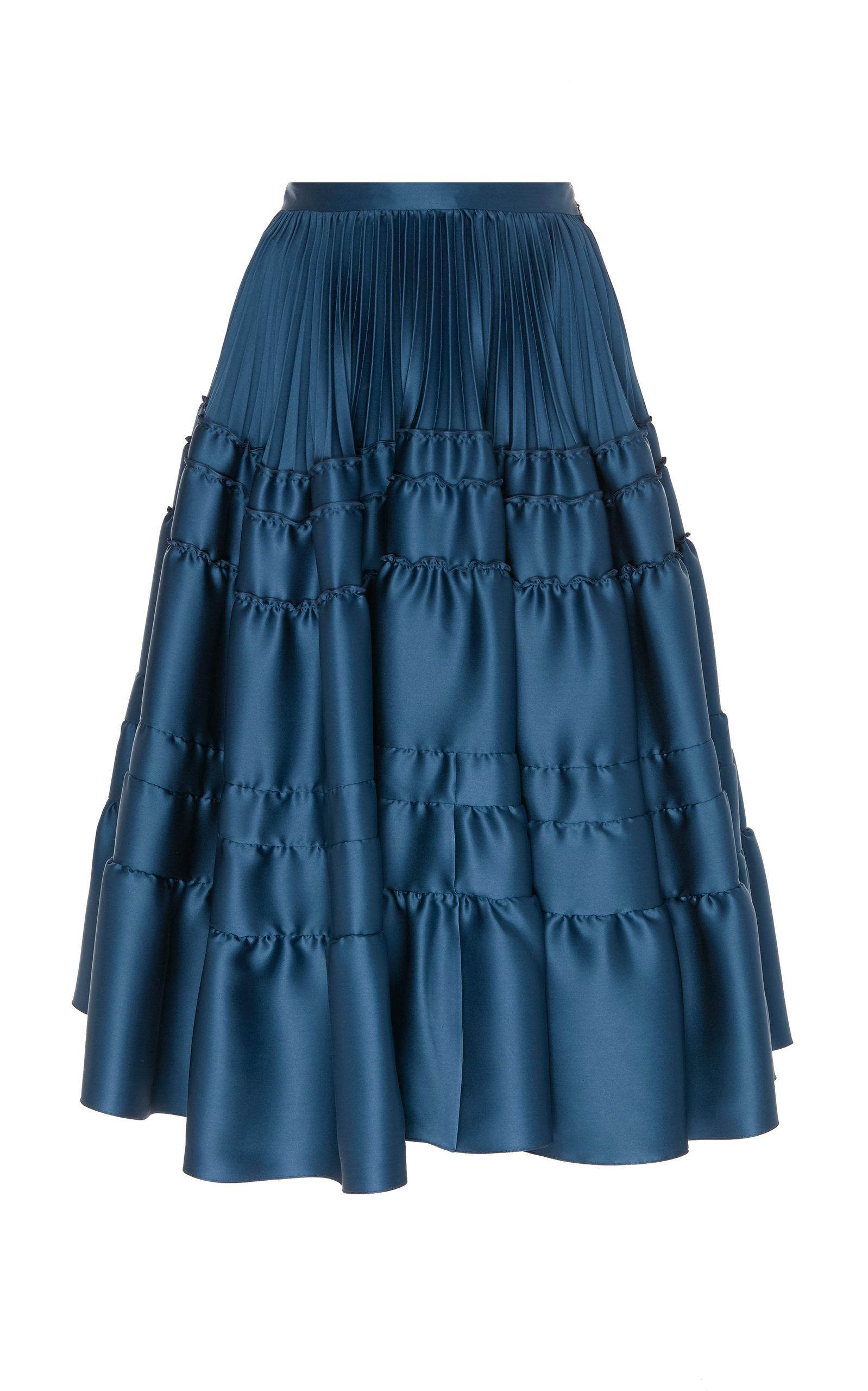 93a661f0c3 Gathered Silk Duchess Satin Skirt by Rochas | Moda Operandi