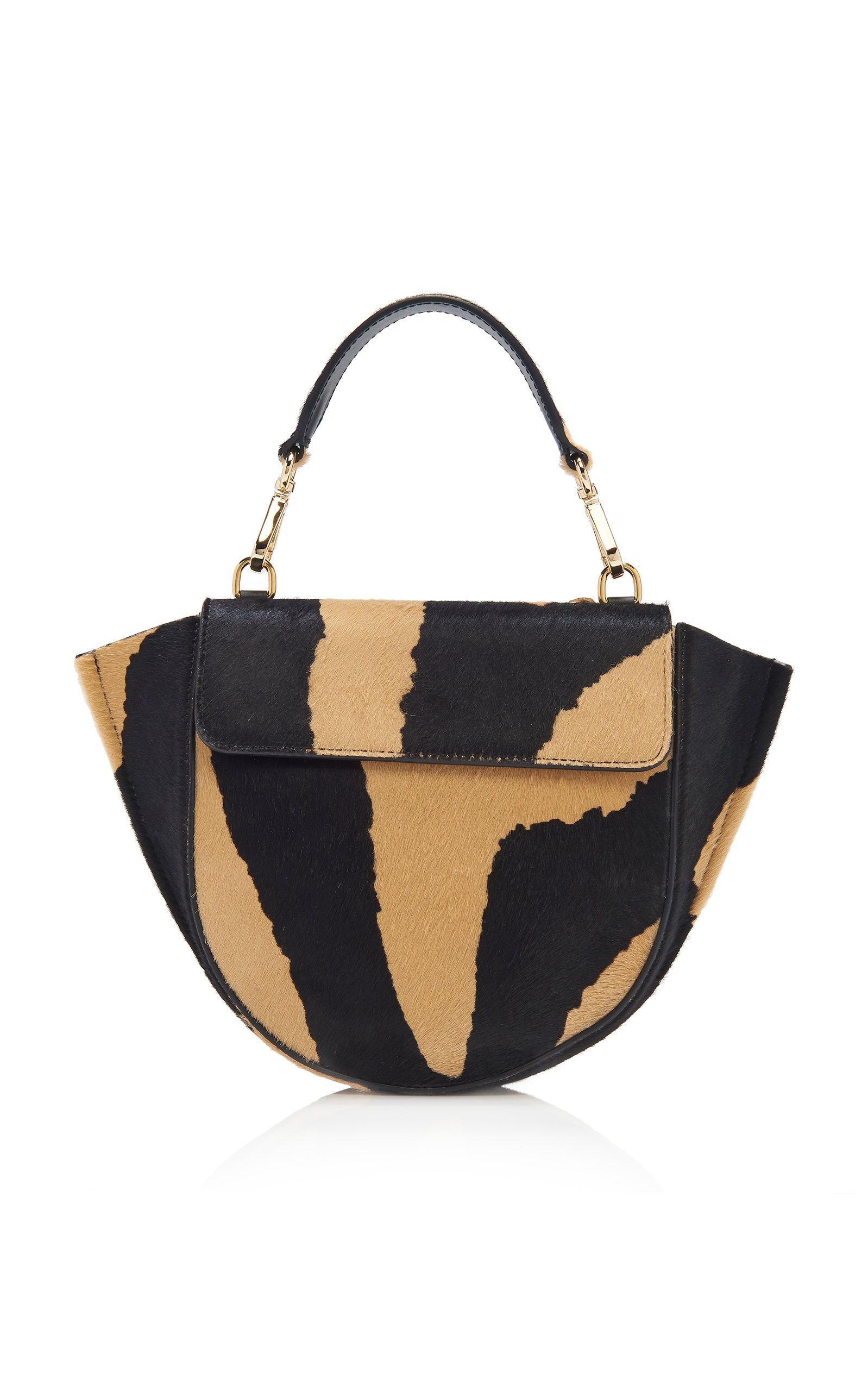 Hortensia Mini Zebra Print Calf Hair Shoulder Bag by Wandler