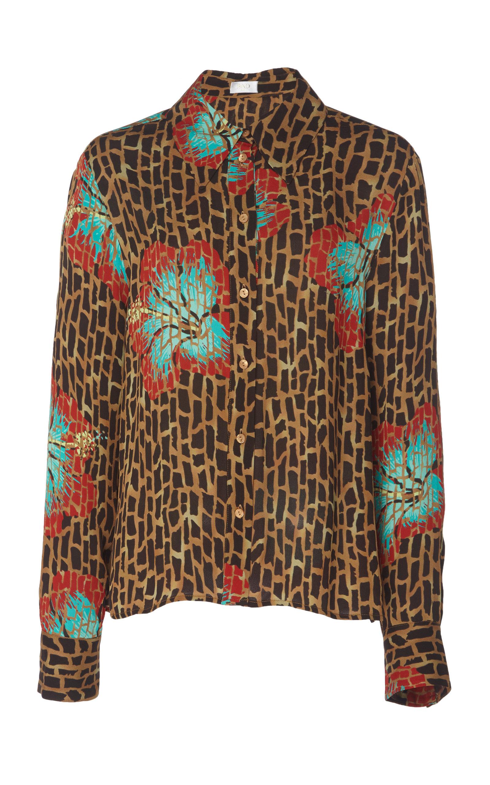a4001abd0 Jamie Collared Silk-Blend Shirt by RIXO | Moda Operandi