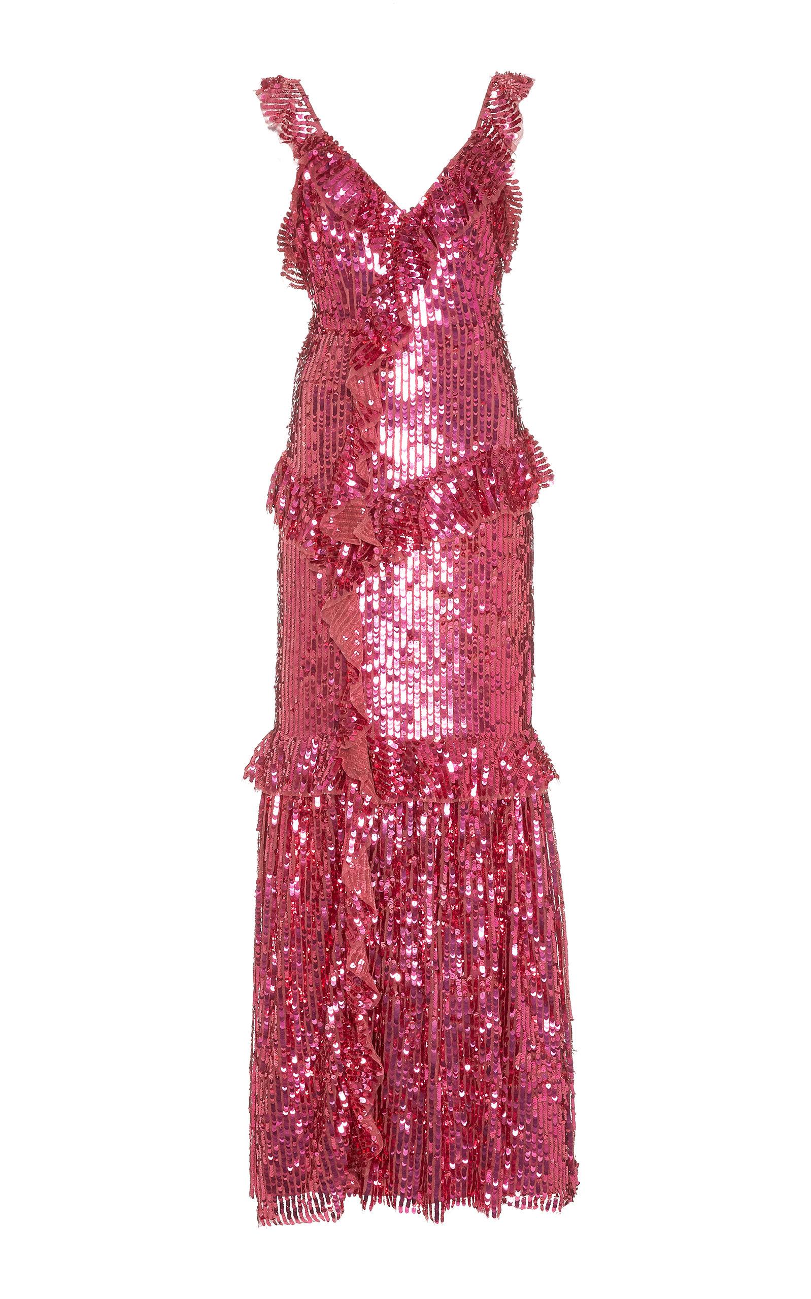 Needle & Thread Dresses Scarlett V-neck Sequined Midi Gown