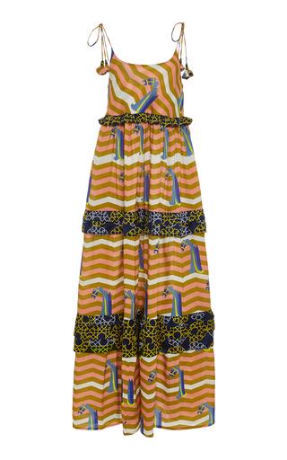 VERANDAH | VERANDAH Printed Cotton-Poplin Maxi Dress | Goxip