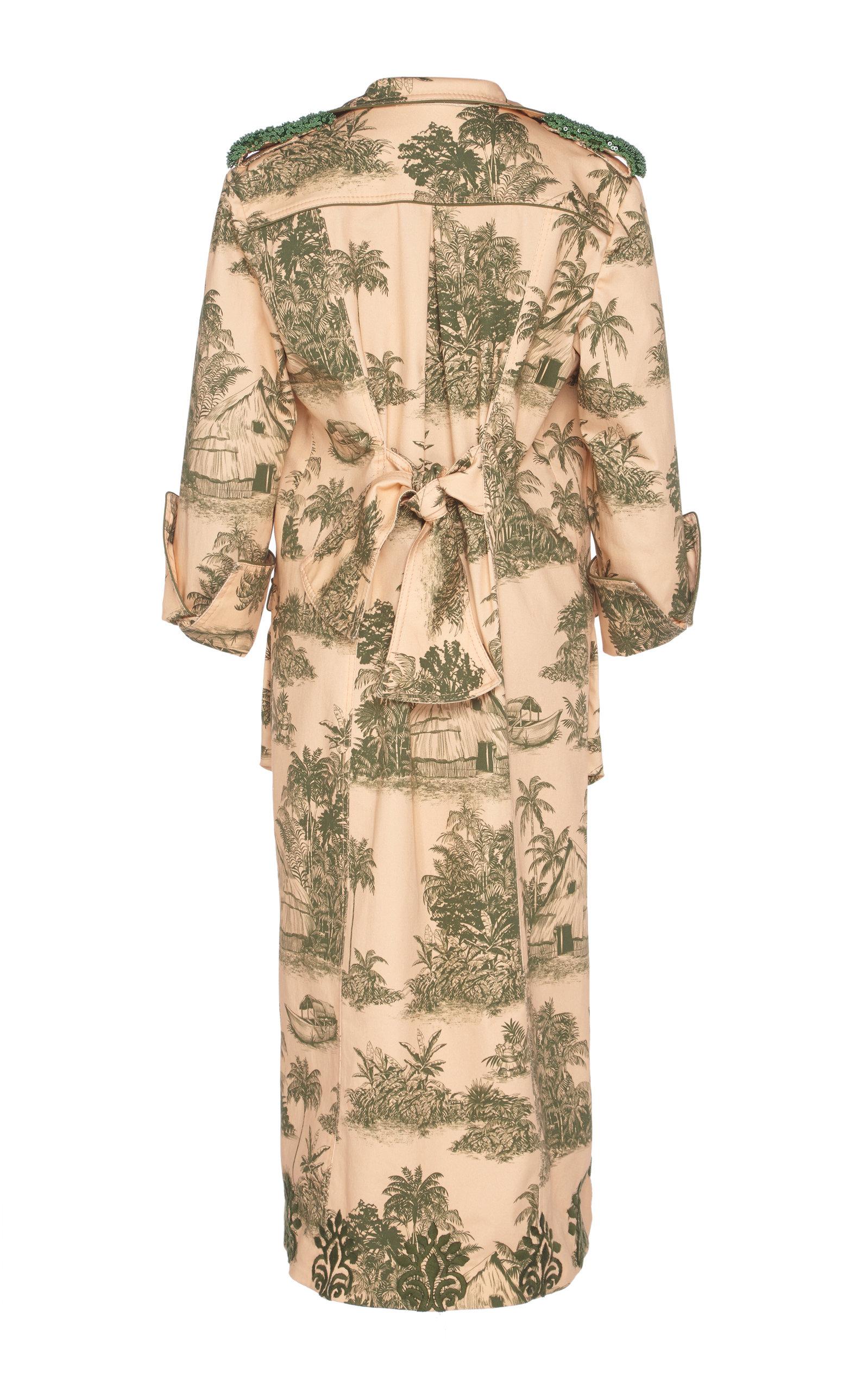 Johanna Ortiz Coats Vientos Invernales Sequin-Embellished Cotton-Blend Coat