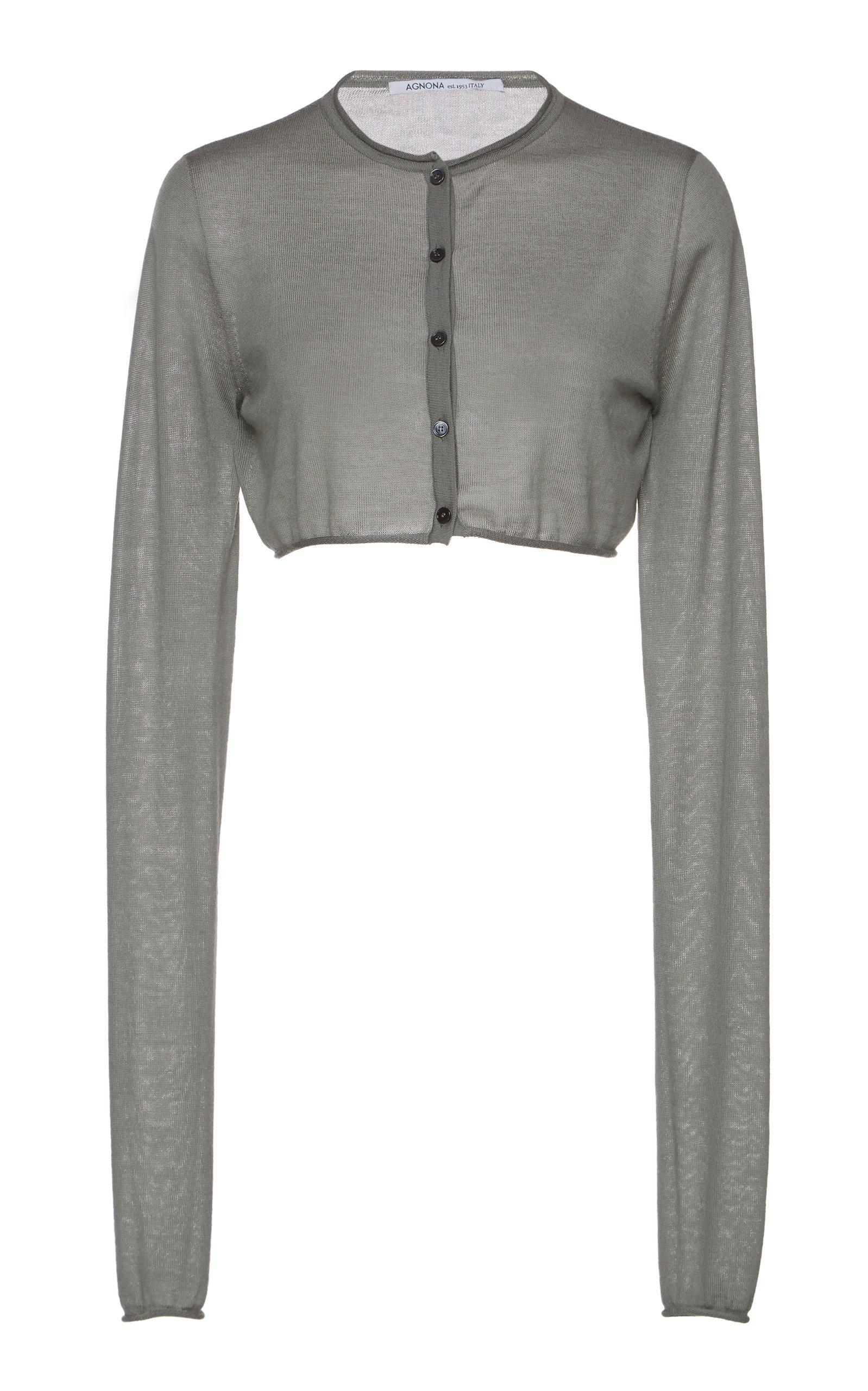 6e45479ba2 Cropped Cashmere Cardigan by Agnona