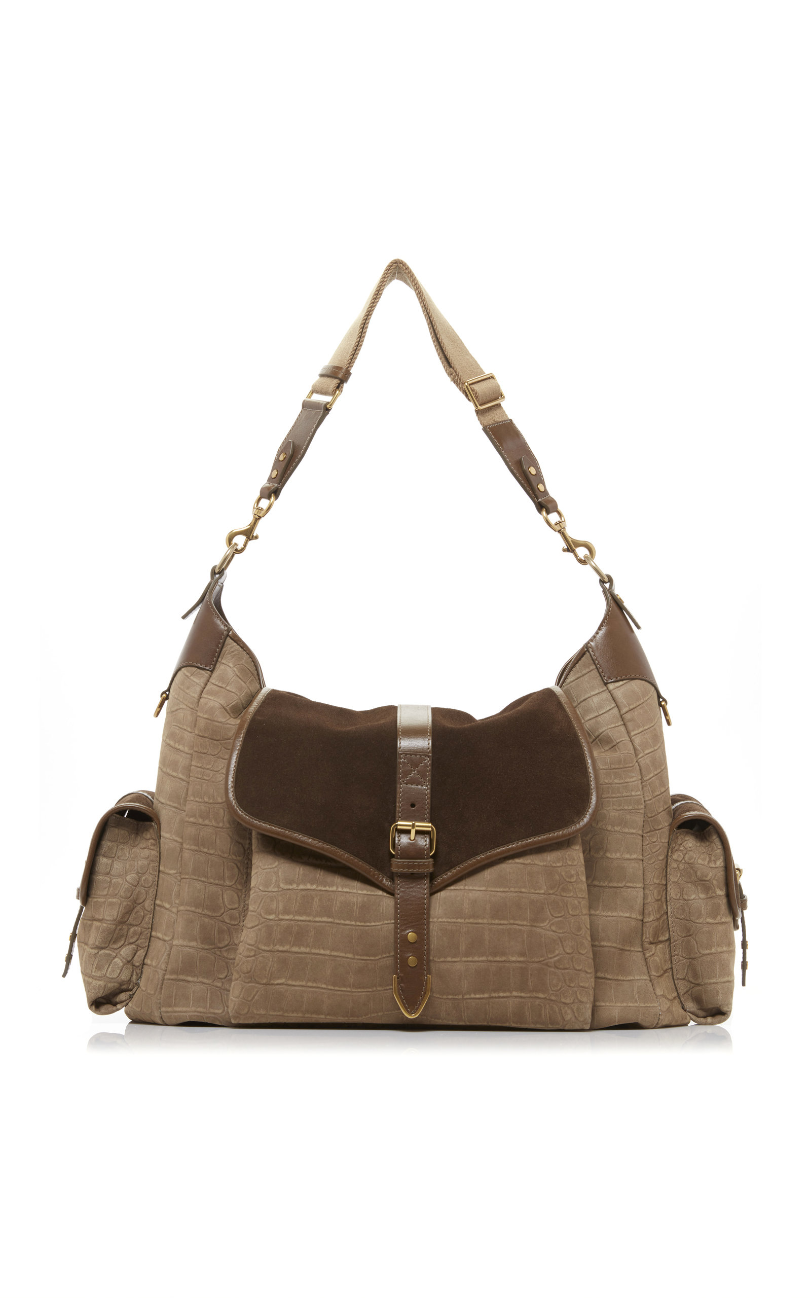 2340e29c5d0a Mawee Croc-Effect Suede Hobo Bag by Isabel Marant