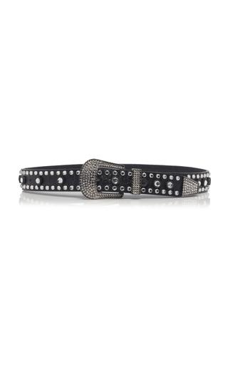 ALESSANDRA RICH | Alessandra Rich Rhinestone Embellished Leather Belt | Goxip