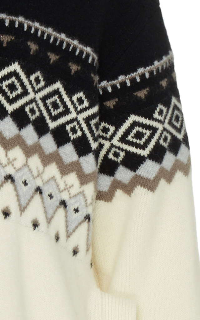 Wool And Cashmere-Blend Fair Isle Sweater