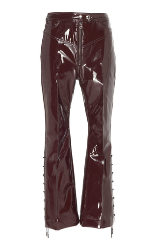 Ellery WESTWARD HIGH-WAISTED LACE-UP VINYL PANTS